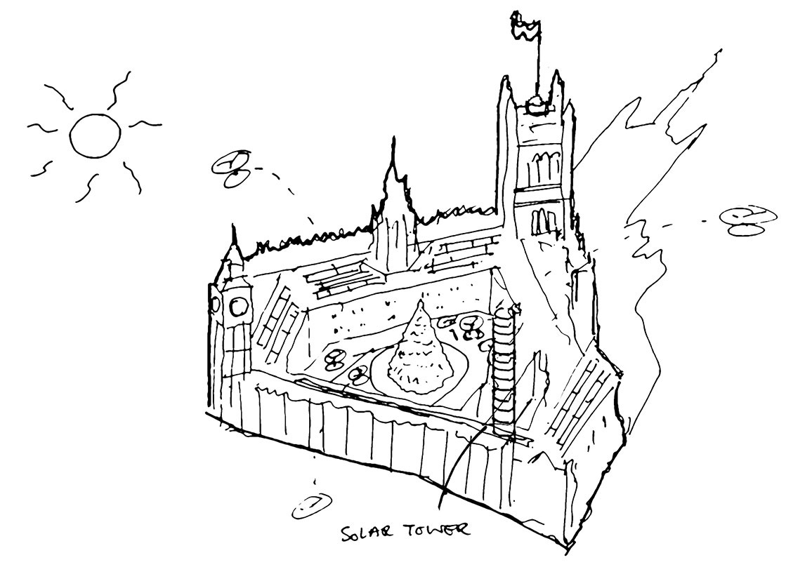 Concept sketch by BDP | Gingerbread City | Museum of Architecture | Somerset House | STIRworld