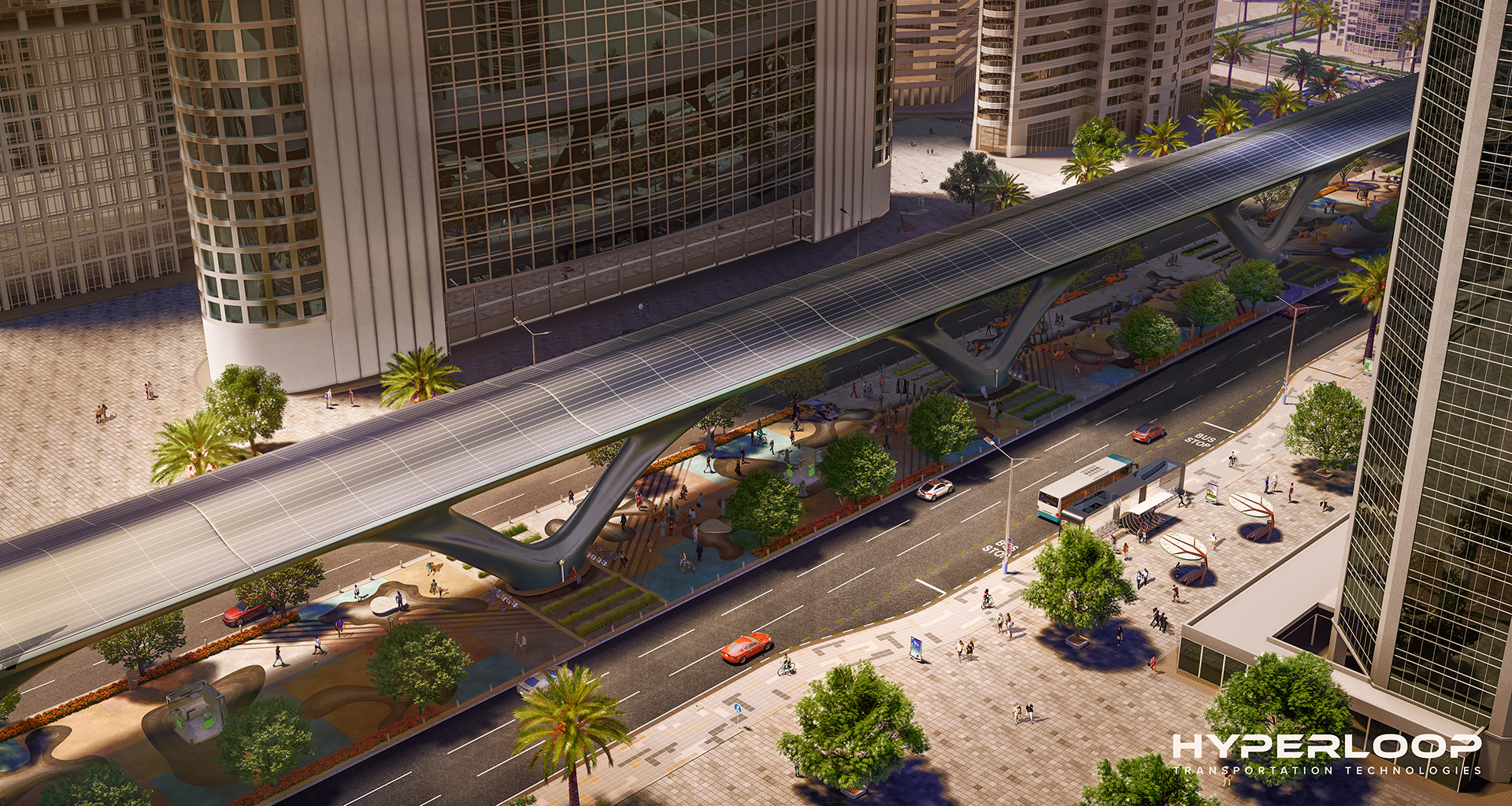 A sustainable model of future mobility in the form of low pressure, hyper speed transportation system | Hyperloop TT | MAD Architects | STIRworld
