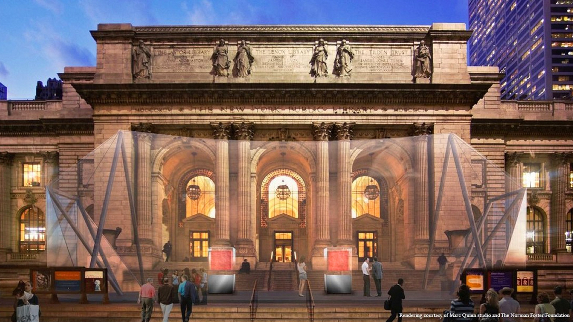 The proposed site for Our Blood by Marc Quinn that will be hosted at the public library at the Stephen A. Schwarzman building in New York in 2021 | Our Blood | Marc Quinn | STIRworld