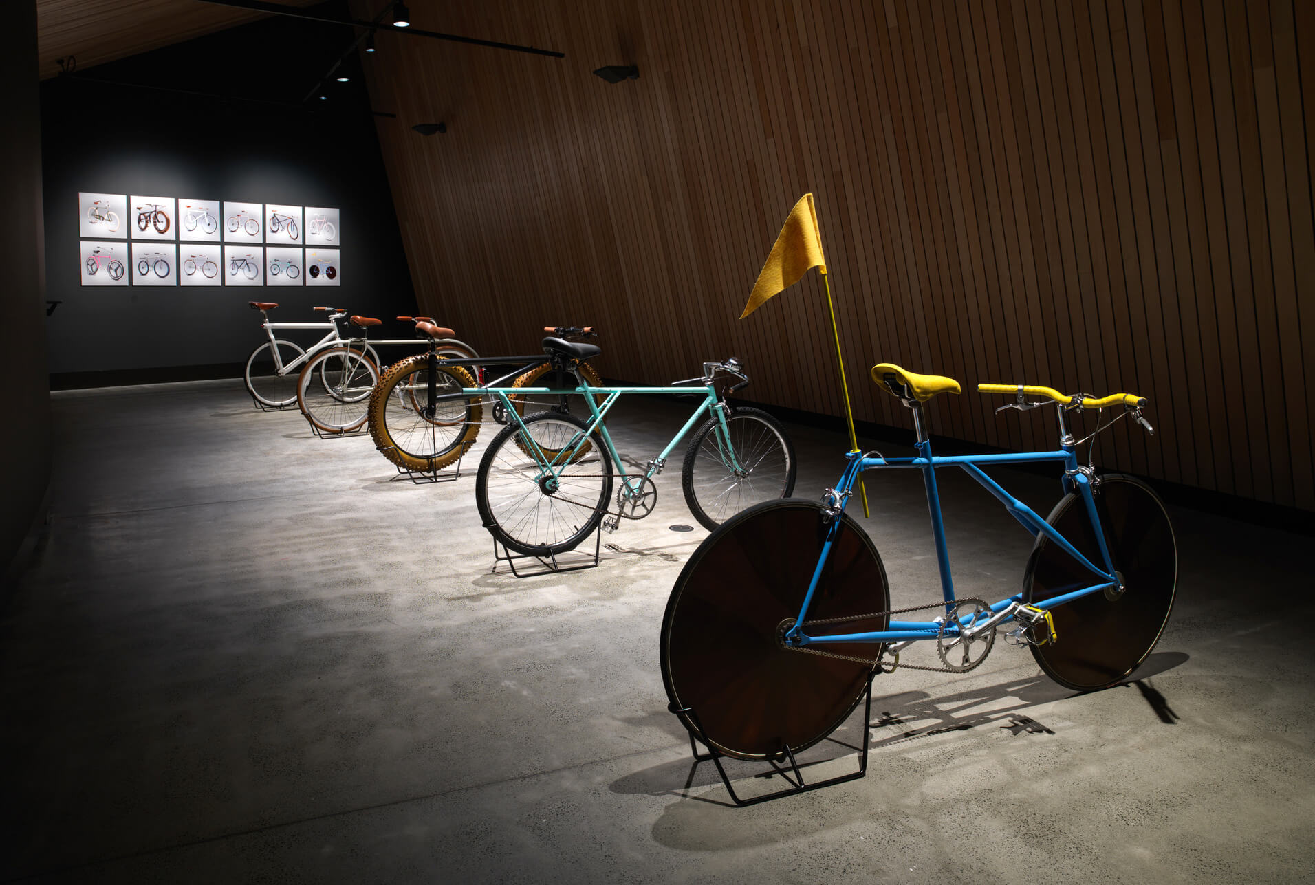 Prototypes of five bicycles created and exhibited at the Museum of Old and New Art, Tasmania, Australia | Velocipedia| Gianluca Gimini | STIRworld