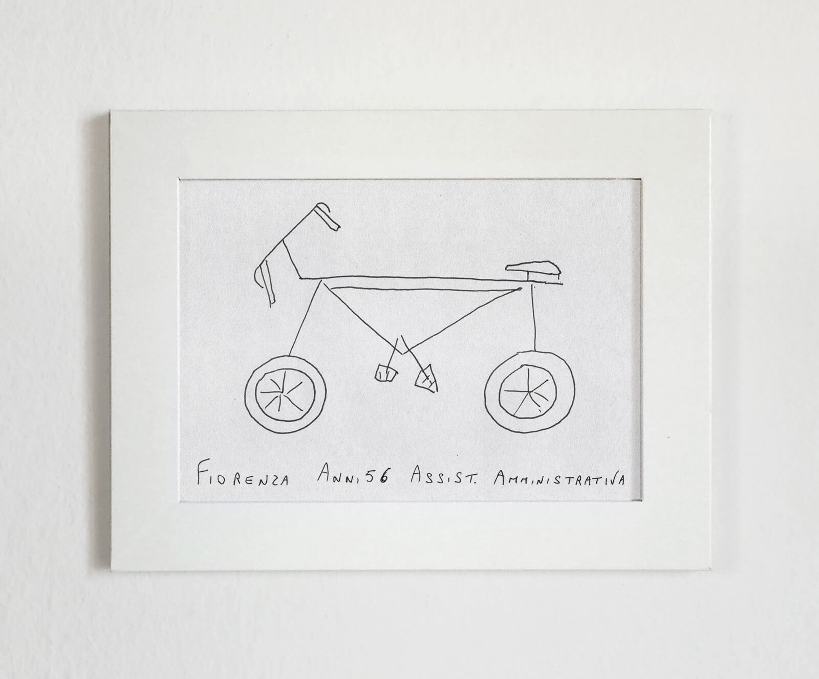 The amateur bicycle drawing by participant Fiorenza has small wheels and unique pedals | Velocipedia| Gianluca Gimini | STIRworld