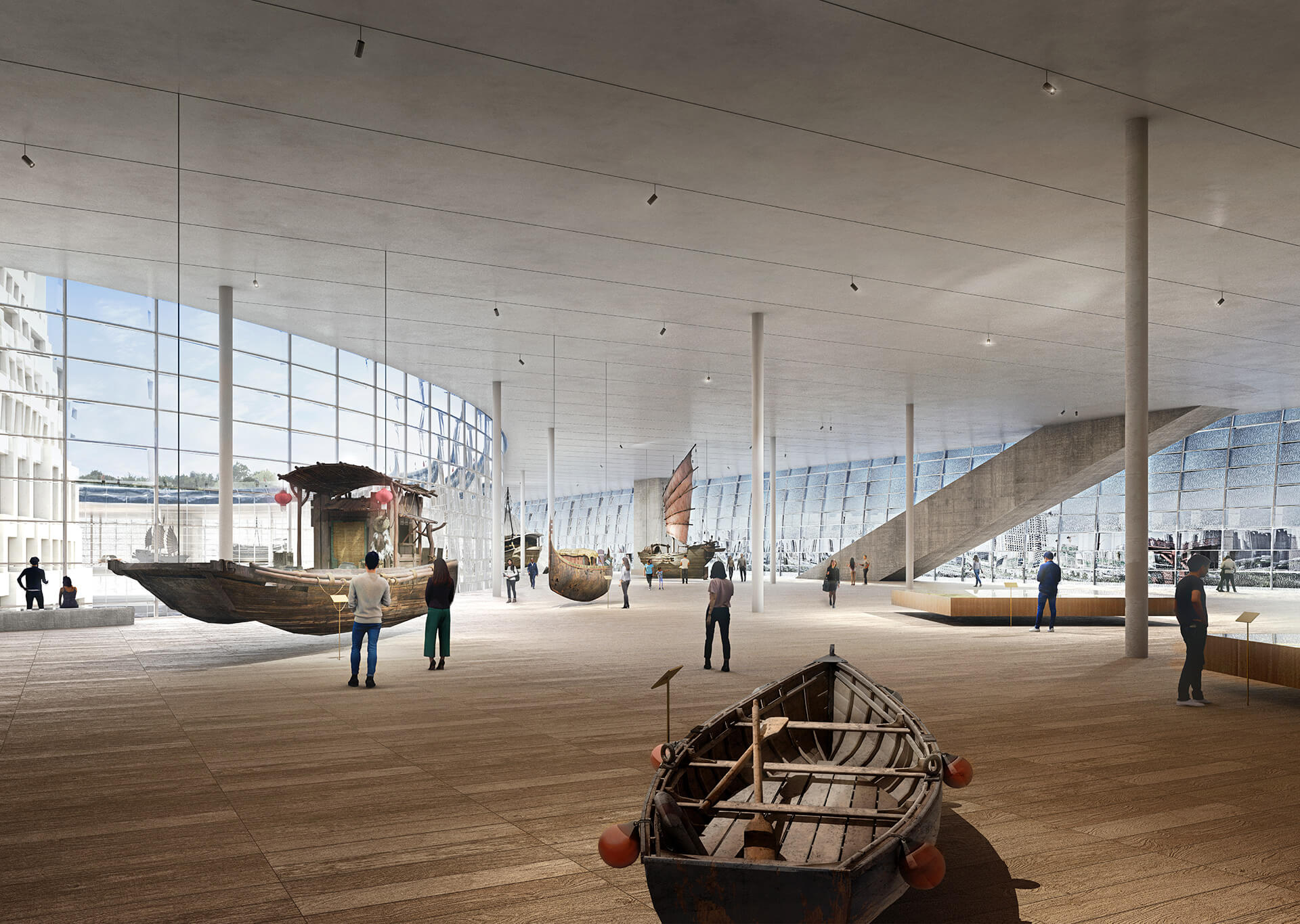 Conceptual rendering of one of the galleries within the museum | Grand Canal Museum | Herzog & de Meuron | STIRworld