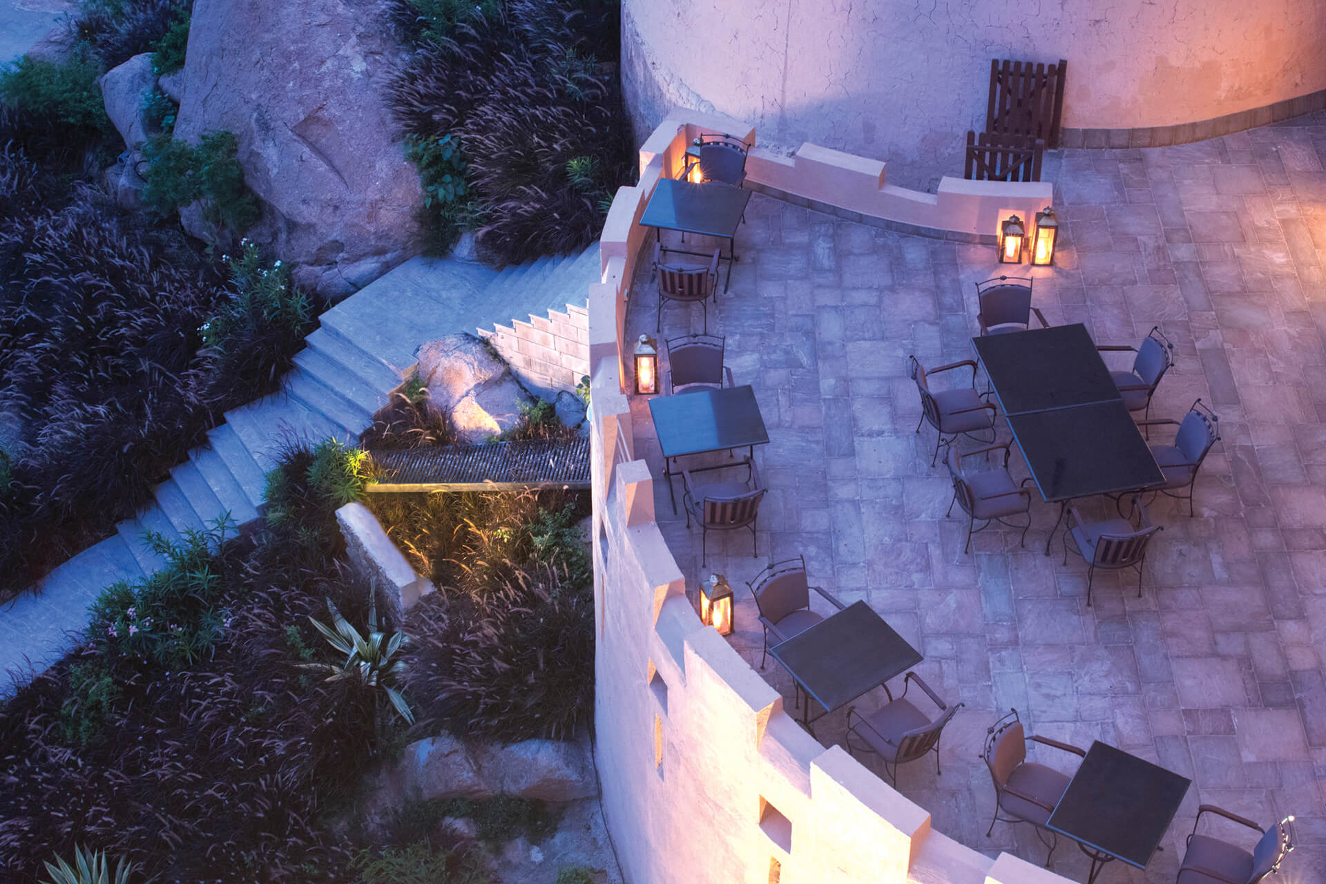 Outdoor seating area| Alila Bishangarh Fort |Sthapatya Architects | STIRworld