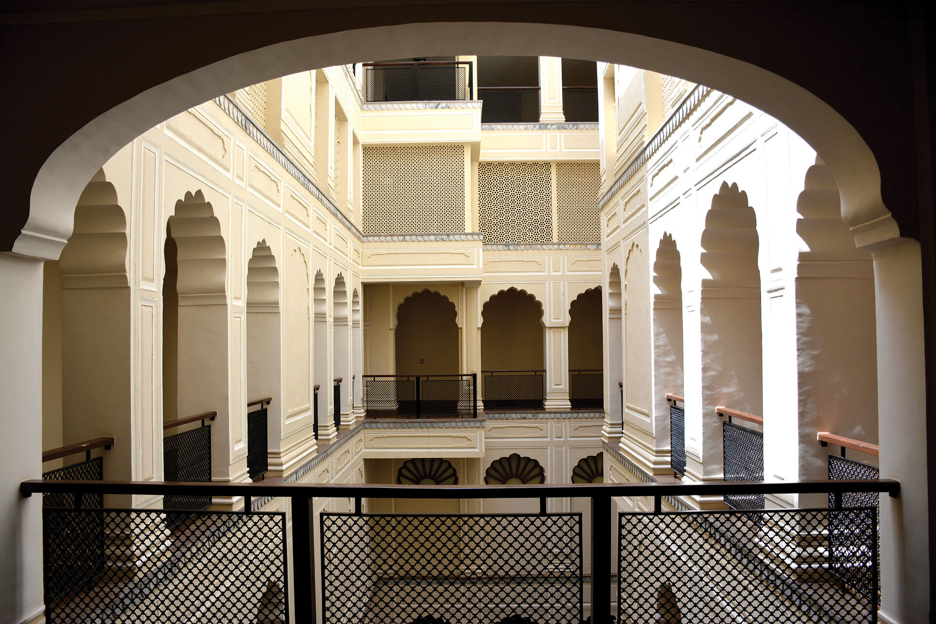 Central opening converted into courtyard| Alila Bishangarh Fort |Sthapatya Architects | STIRworld