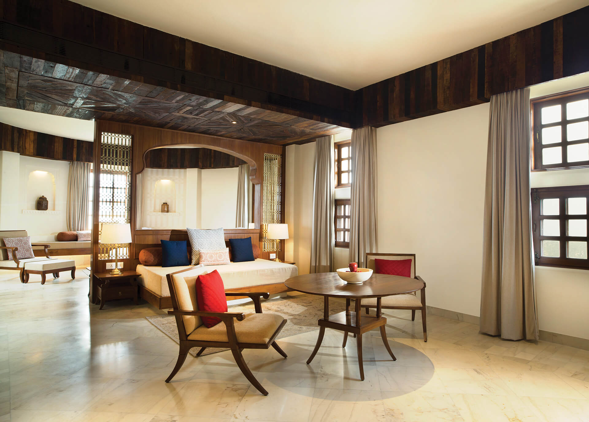 Accommodation - Grand Suite - Living Area & Bedroom| Alila Bishangarh Fort |Sthapatya Architects | STIRworld