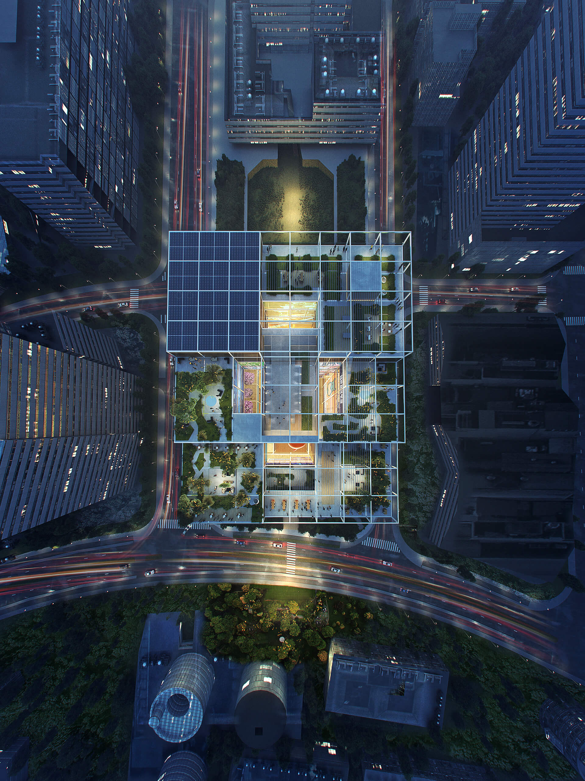 Aerial view of Alibaba's new offices in Shanghai | Alibaba Headquarters | Foster and Partners | STIRworld