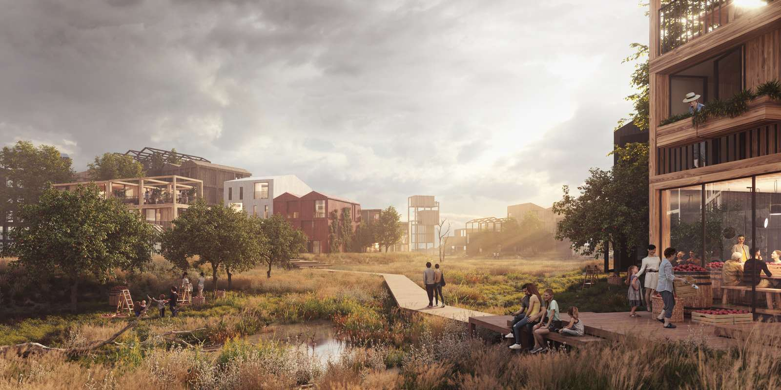 The masterplan envisions a balance between the city and the natural surroundings | Fælledby | Henning Larsen | STIRworld