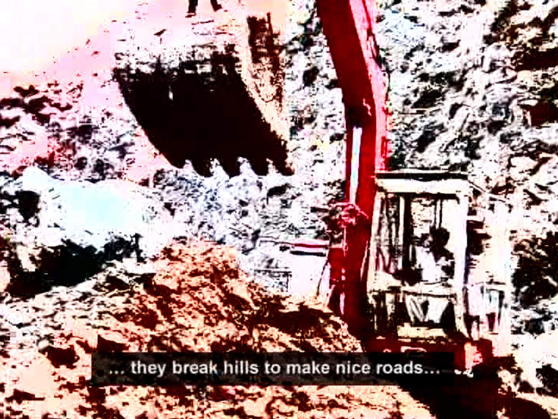 Earth mover at work in Shanghai Tales | Video Art by Indian Contemporary Artists | Sharmila Samant | STIRworld