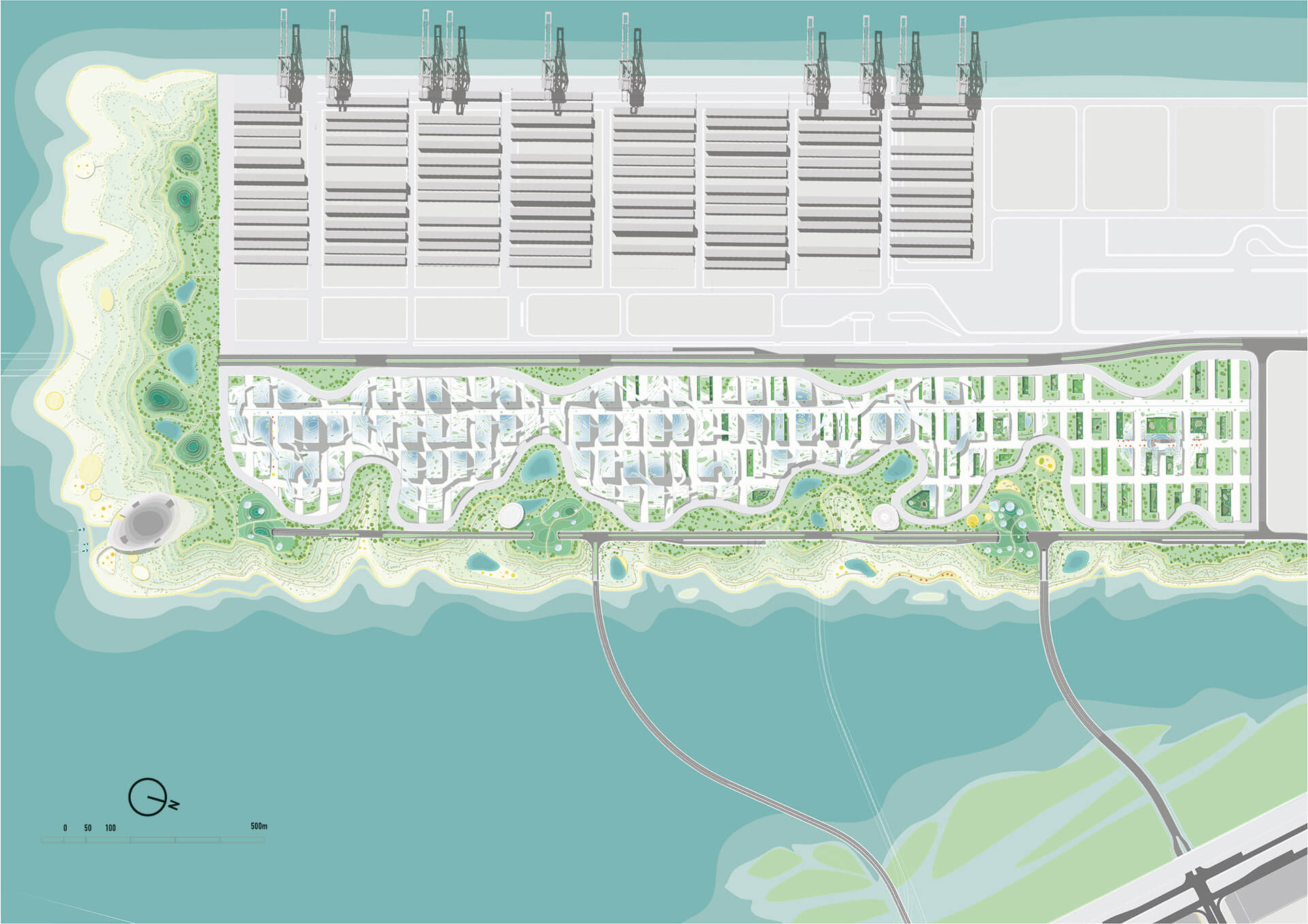 Proposed masterplan of the project  | New Tencent Headquarters Campus | MVRDV | STIRworld