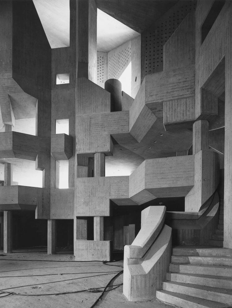 Homogenous concrete stories making up the interiors of the church | BÖHM100: The Concrete Cathedral of Neviges | Deutsches Architekturmusem (DAM) | STIRworld