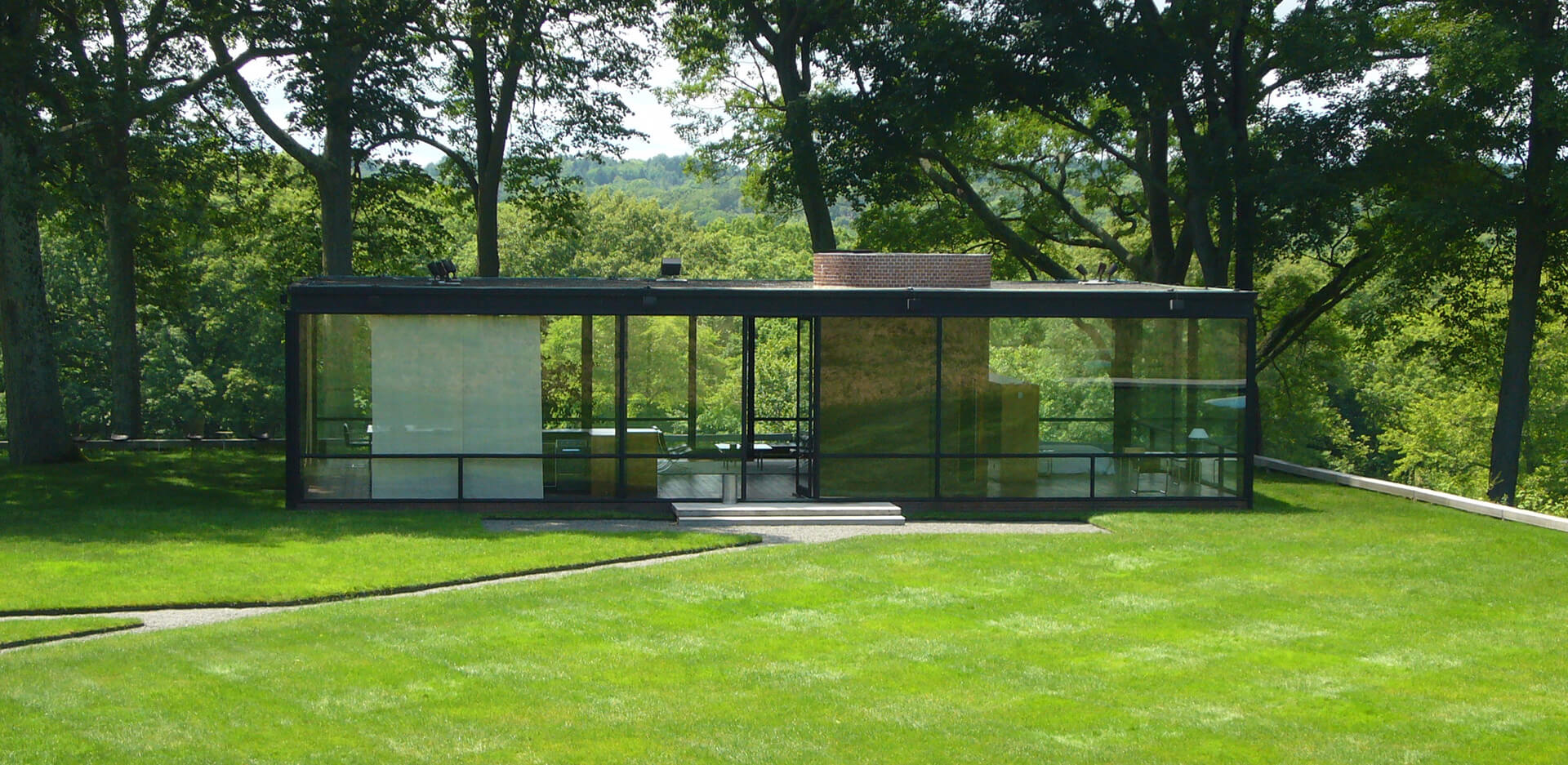 The Glass House in New Canaan, Connecticut, was built by Philip Johnson in 1949 as his own residence | Philip Johnson | STIRworld