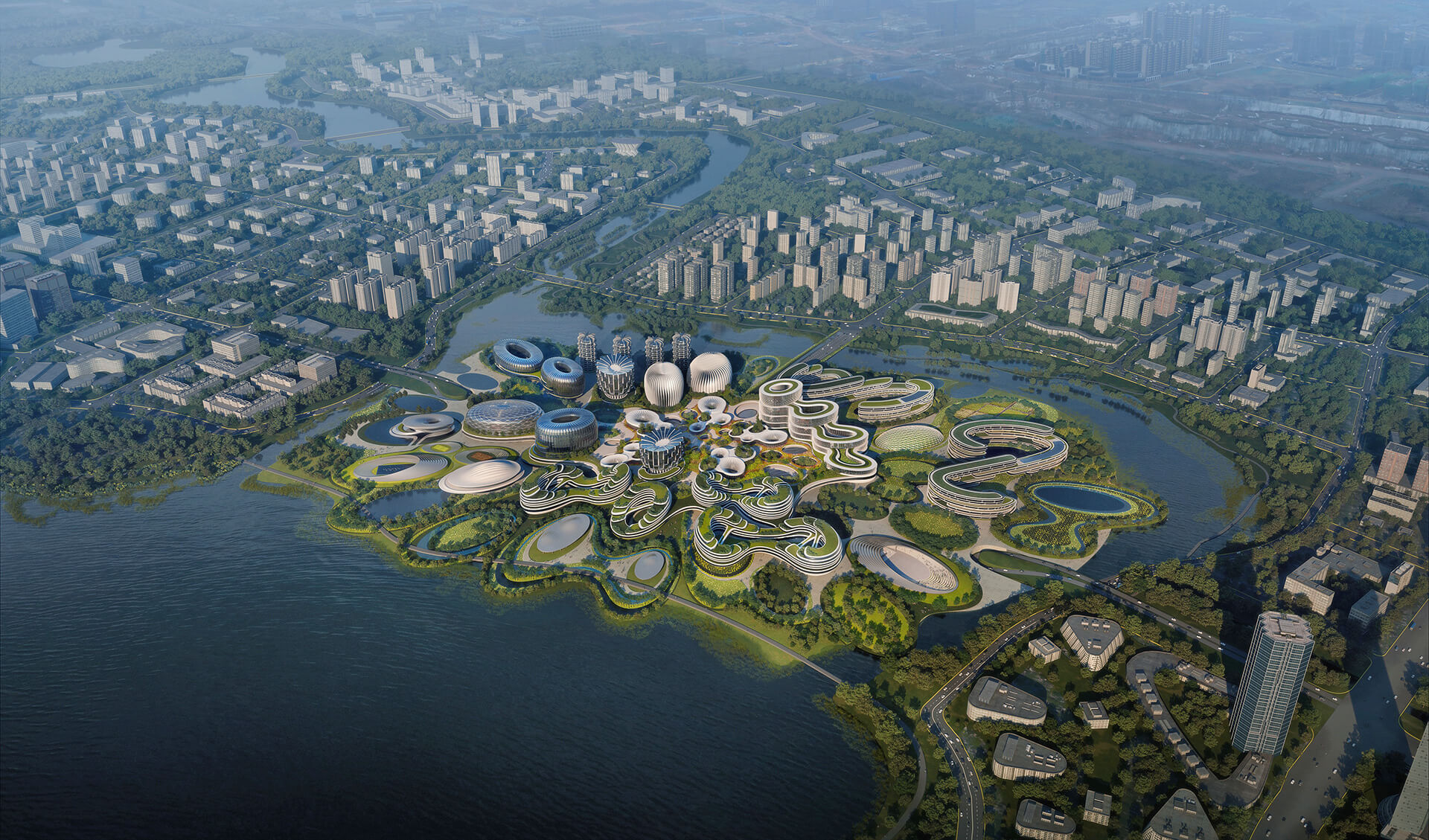 Unicorn Island Masterplan in Chengdu, China conceived by architectural giants Zaha Hadid Architects | Unicorn Island Masterplan| Zaha Hadid Architects | STIRworld