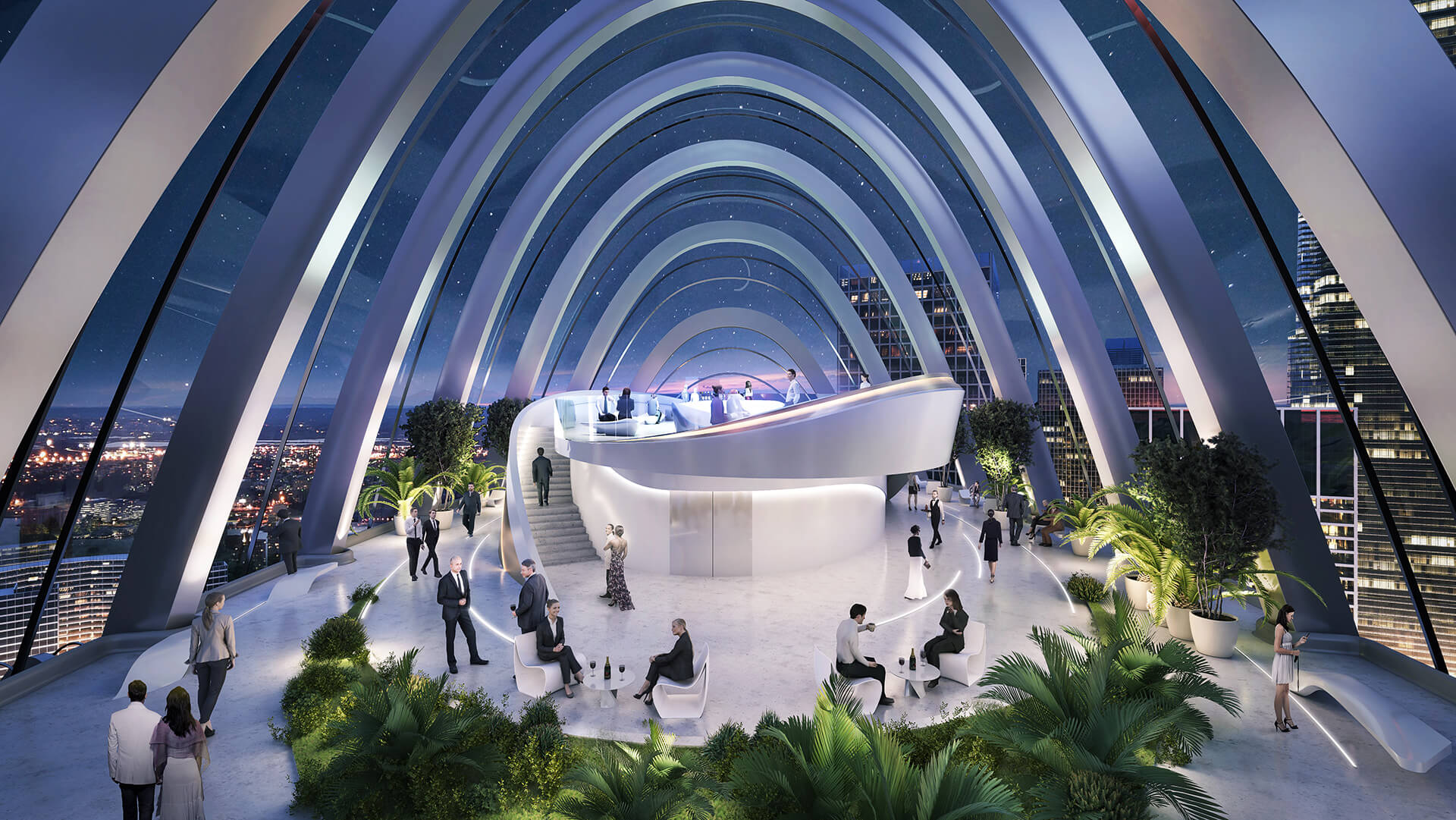 The 10th floor of the building will host the Sky Plaza, which will provide diverse dining experiences | OPPO Headquarters | Zaha Hadid Architects | STIRworld