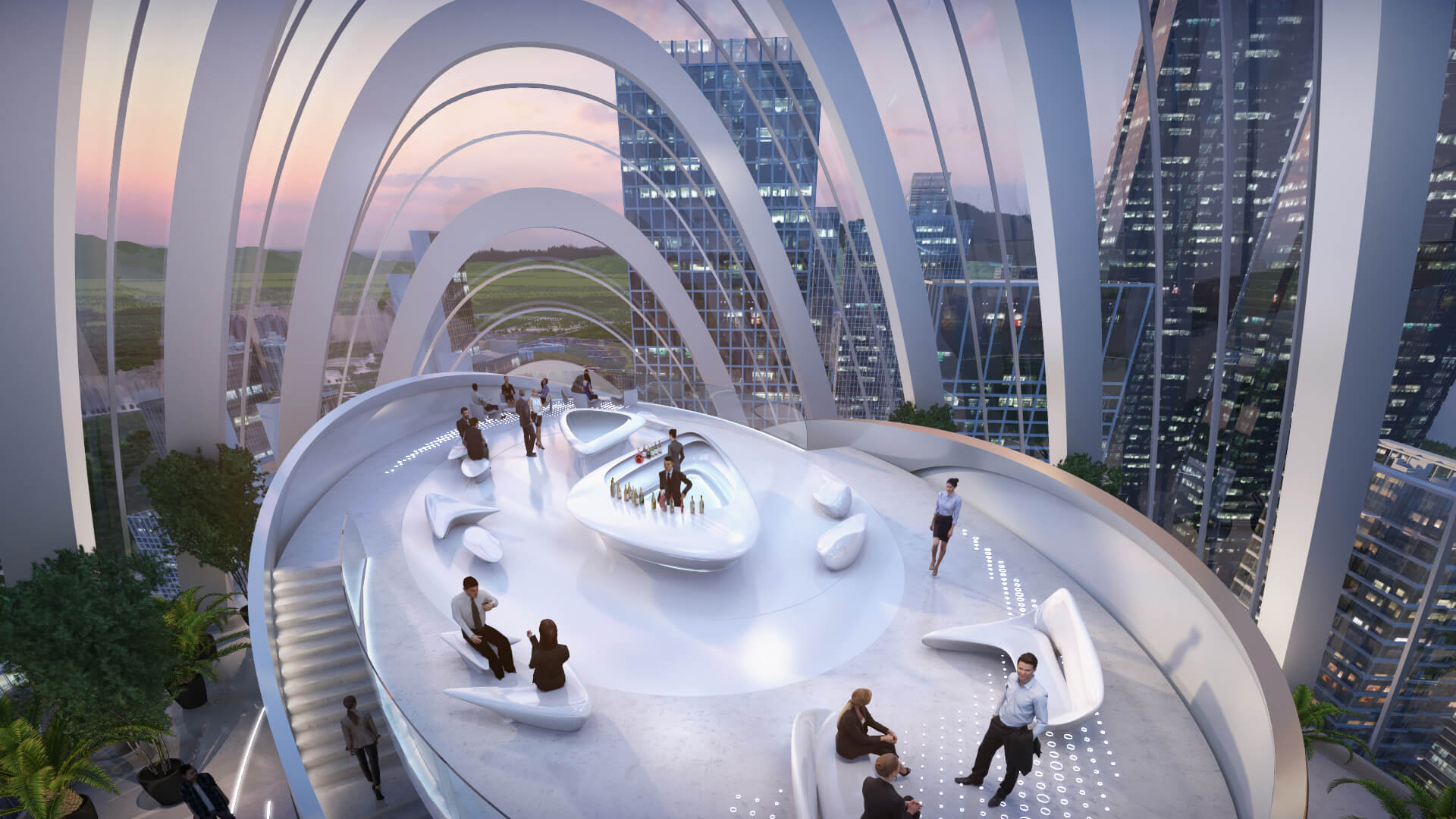 The Sky Lab on the rooftop intends to provide splendid views towards the dynamic city | OPPO Headquarters | Zaha Hadid Architects | STIRworld