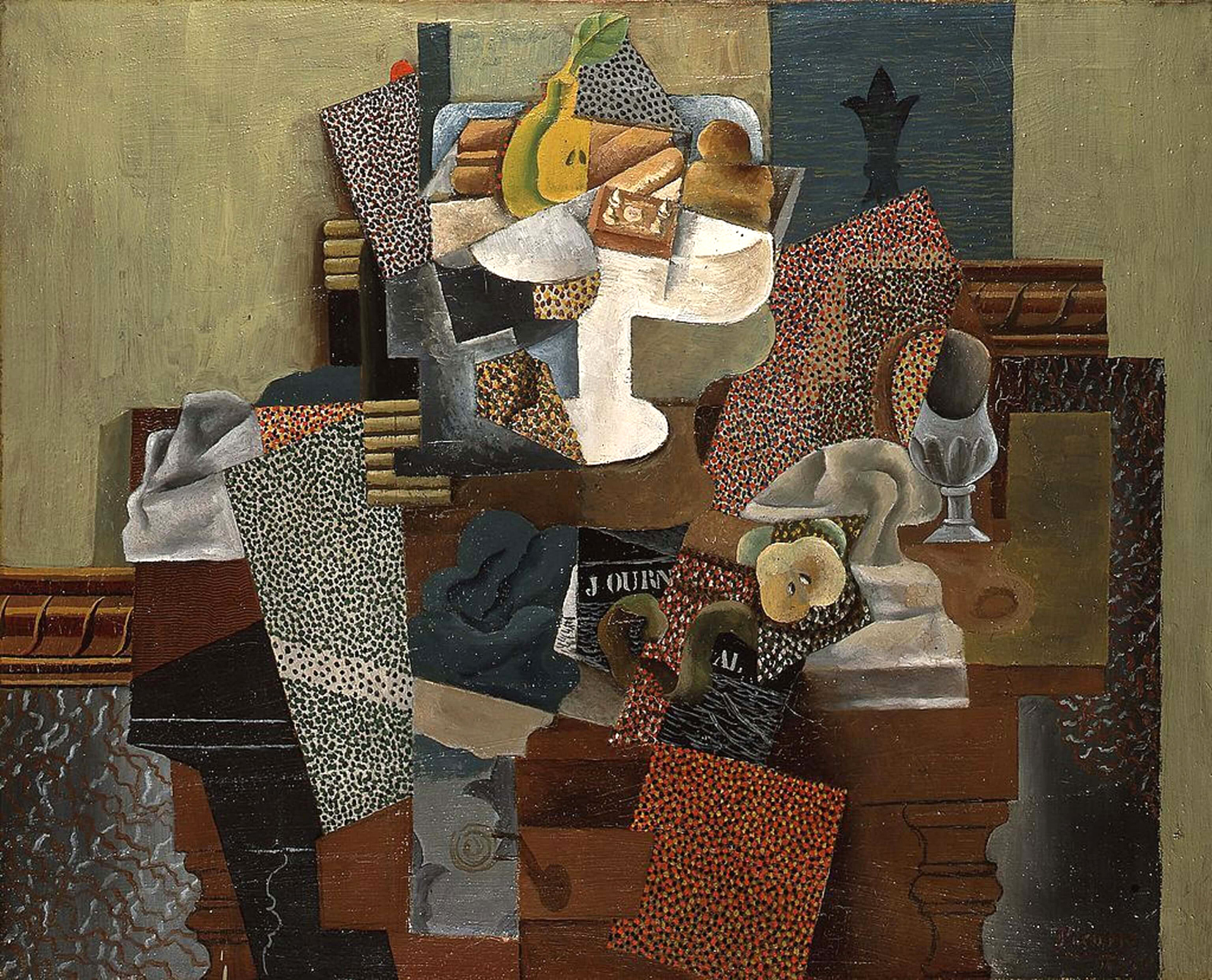 Nature Morte Au Compotier, 1915 (Still Life with Compotier) | Industrial surface as artistic canvas | STIRworld