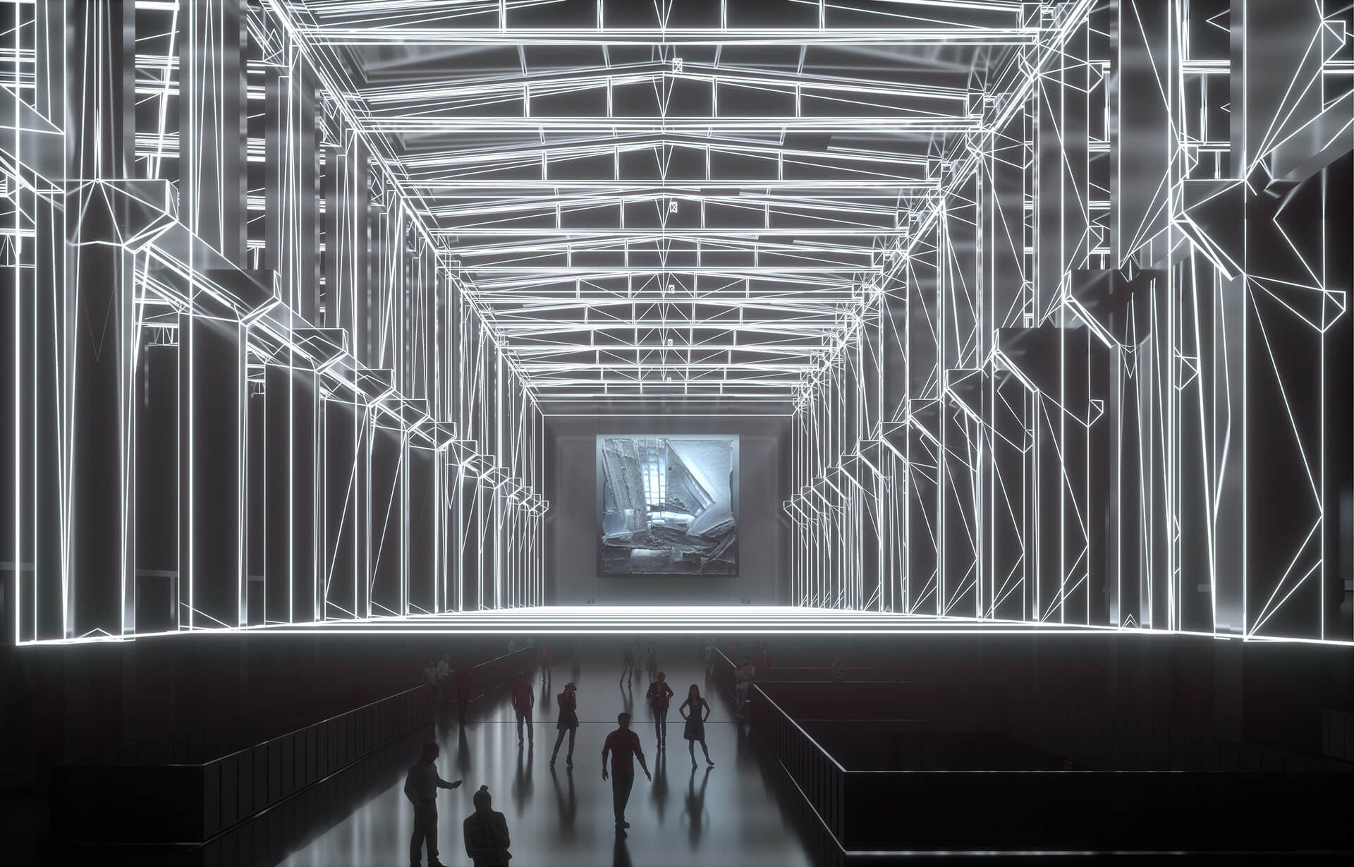 Latent Being responds to the cathedral-like concrete vastness of Kraftwerk Berlin, a former power plant | Latent Being | Refik Anadol | STIRworld