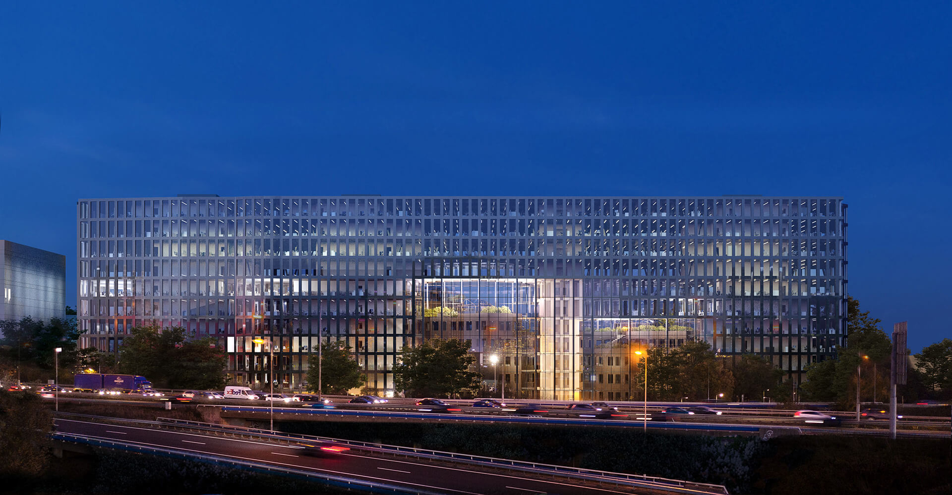 A view of the proposed new block from the adjacent highway | Tripolis Office Complex | MVRDV | STIRworld