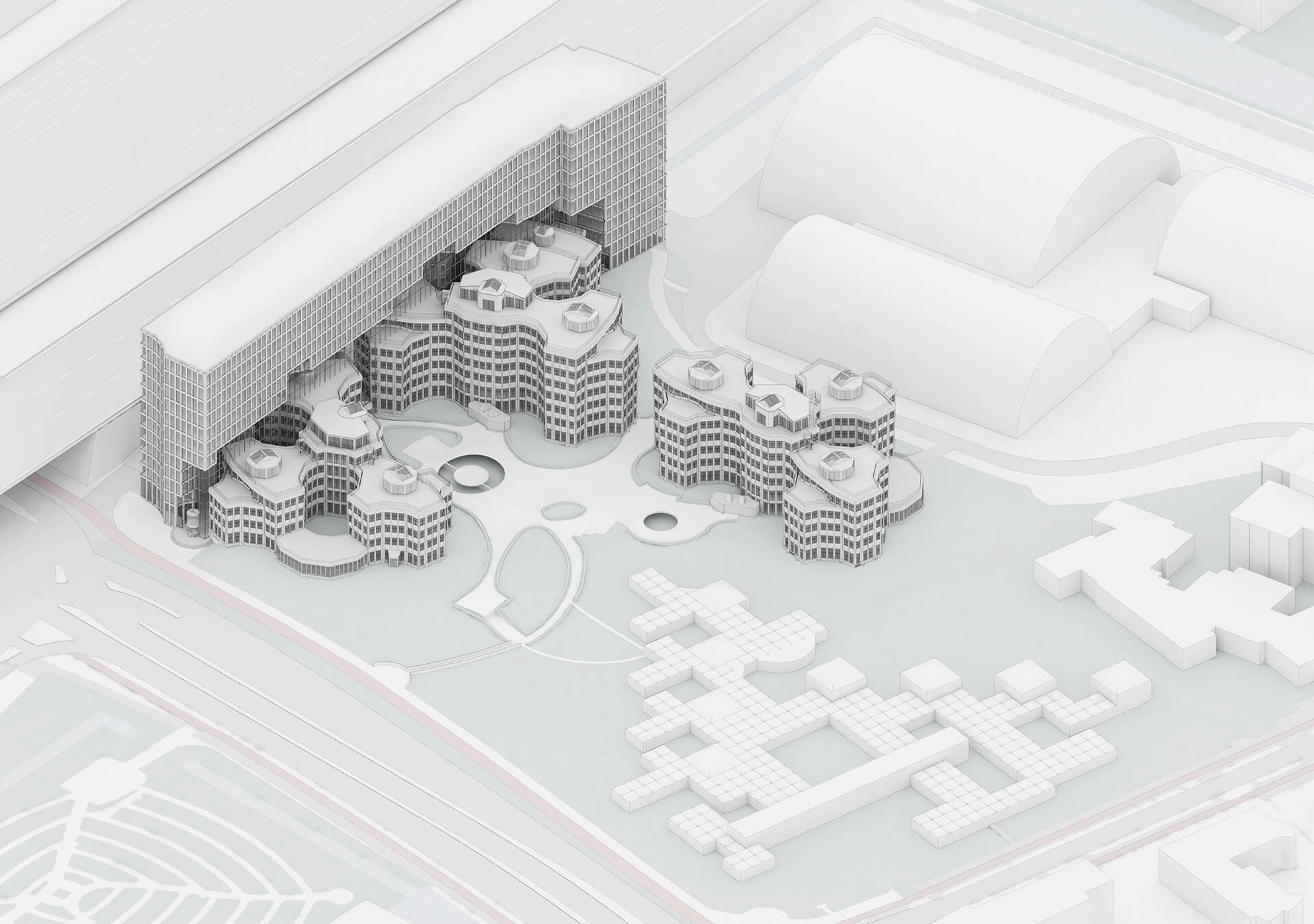 A rendition of the new ensemble | Tripolis Office Complex | MVRDV | STIRworld