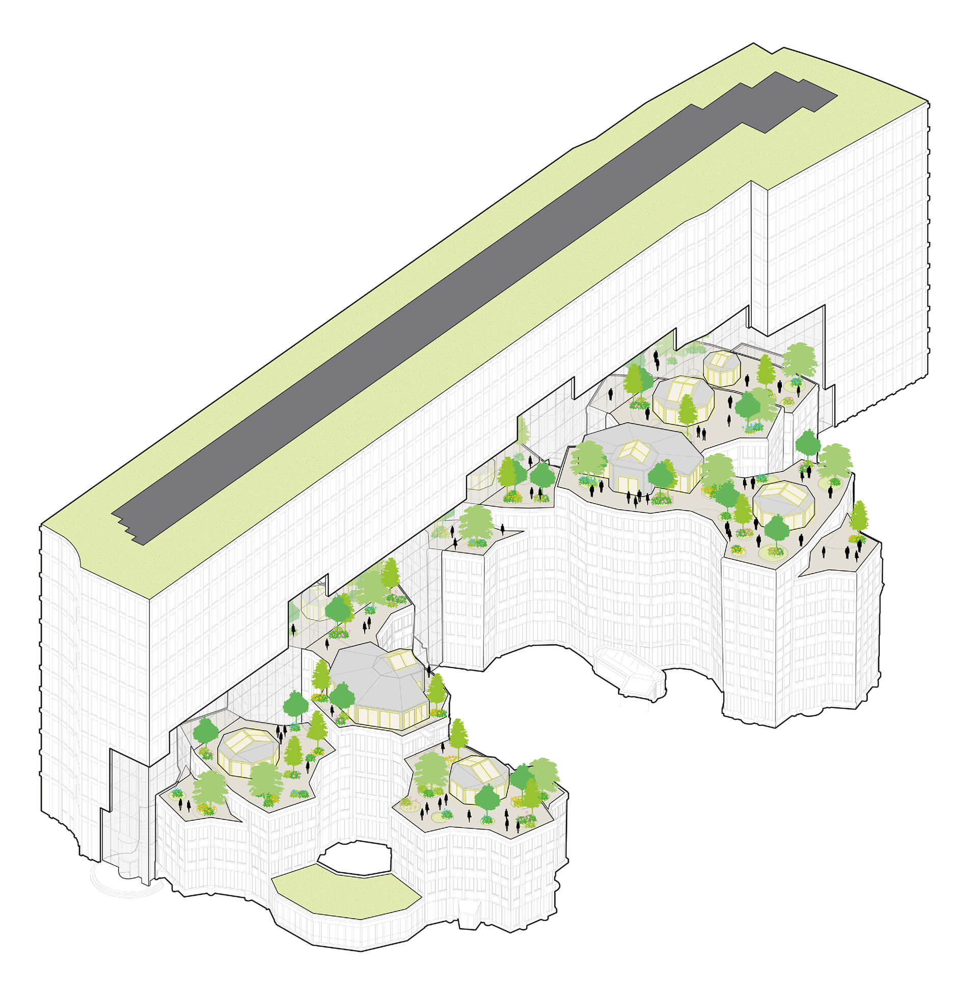 The activated roofscape | Tripolis Office Complex | MVRDV | STIRworld