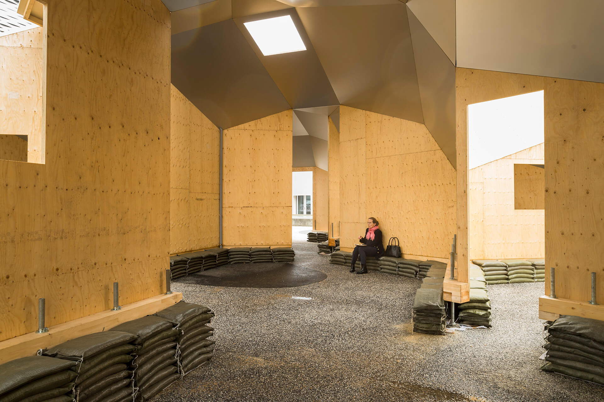 Zome Alloy, a lightweight structural wood shell, at the Art Basel engaged the visitors in the question of what a house can be | Los Angeles Water School  | Oscar Tuazon | STIRworld