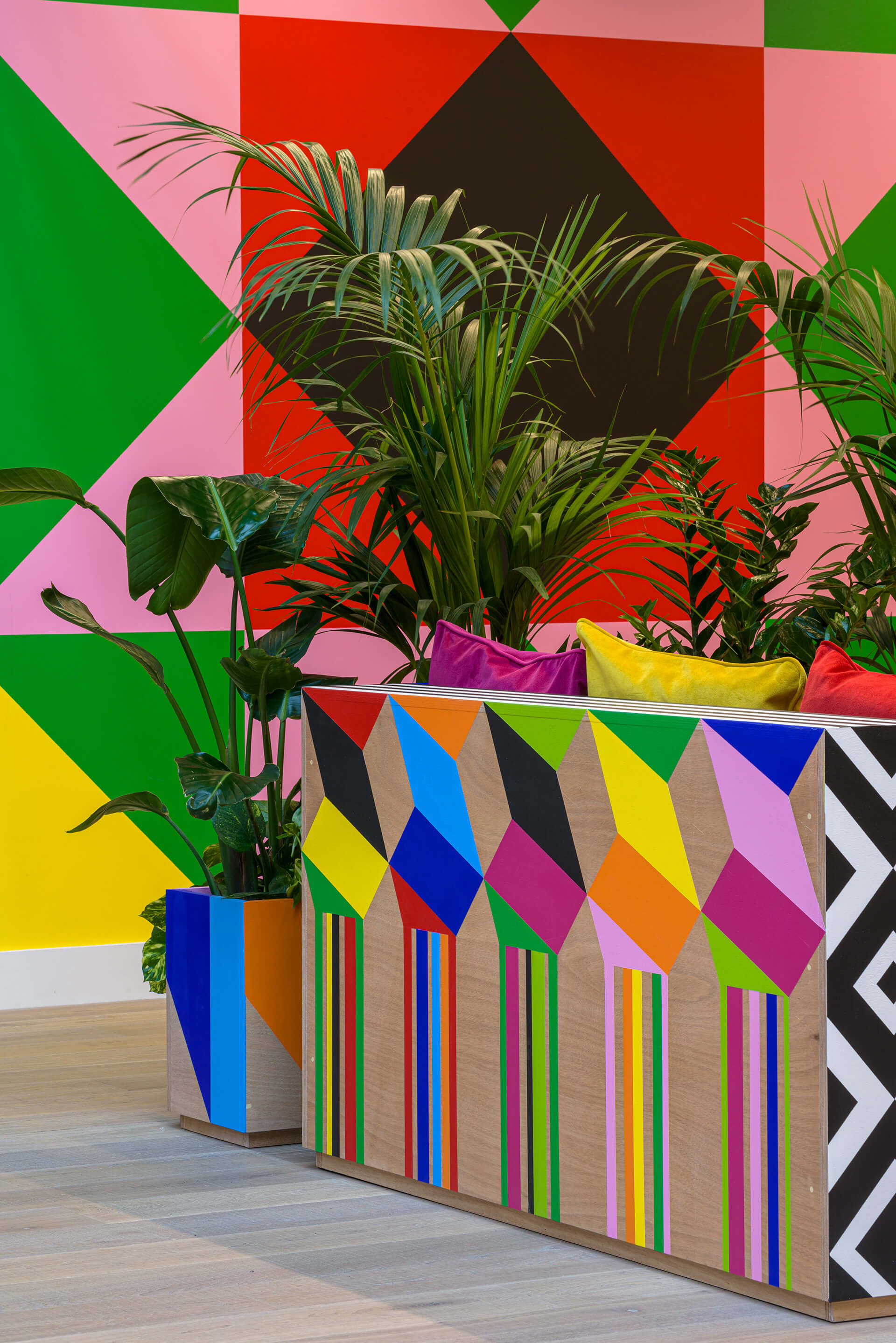 Atoll uses Morag Myerscough's signature colours and optical patterns | Atoll | Morag Myerscough| STIRworld