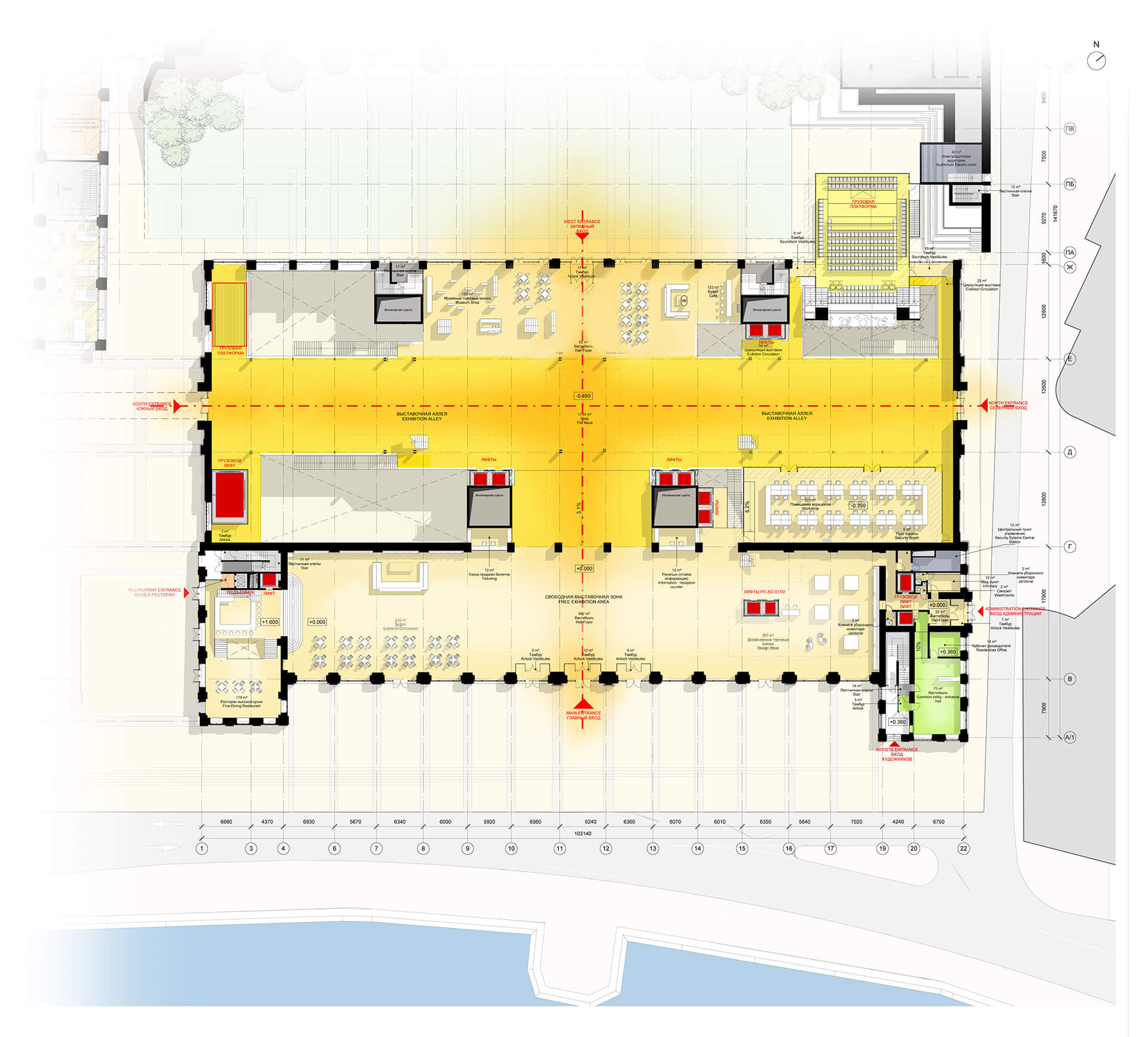 Level 1 Floor Plan | GES-2 | Renzo Piano Building Workshop | STIRworld
