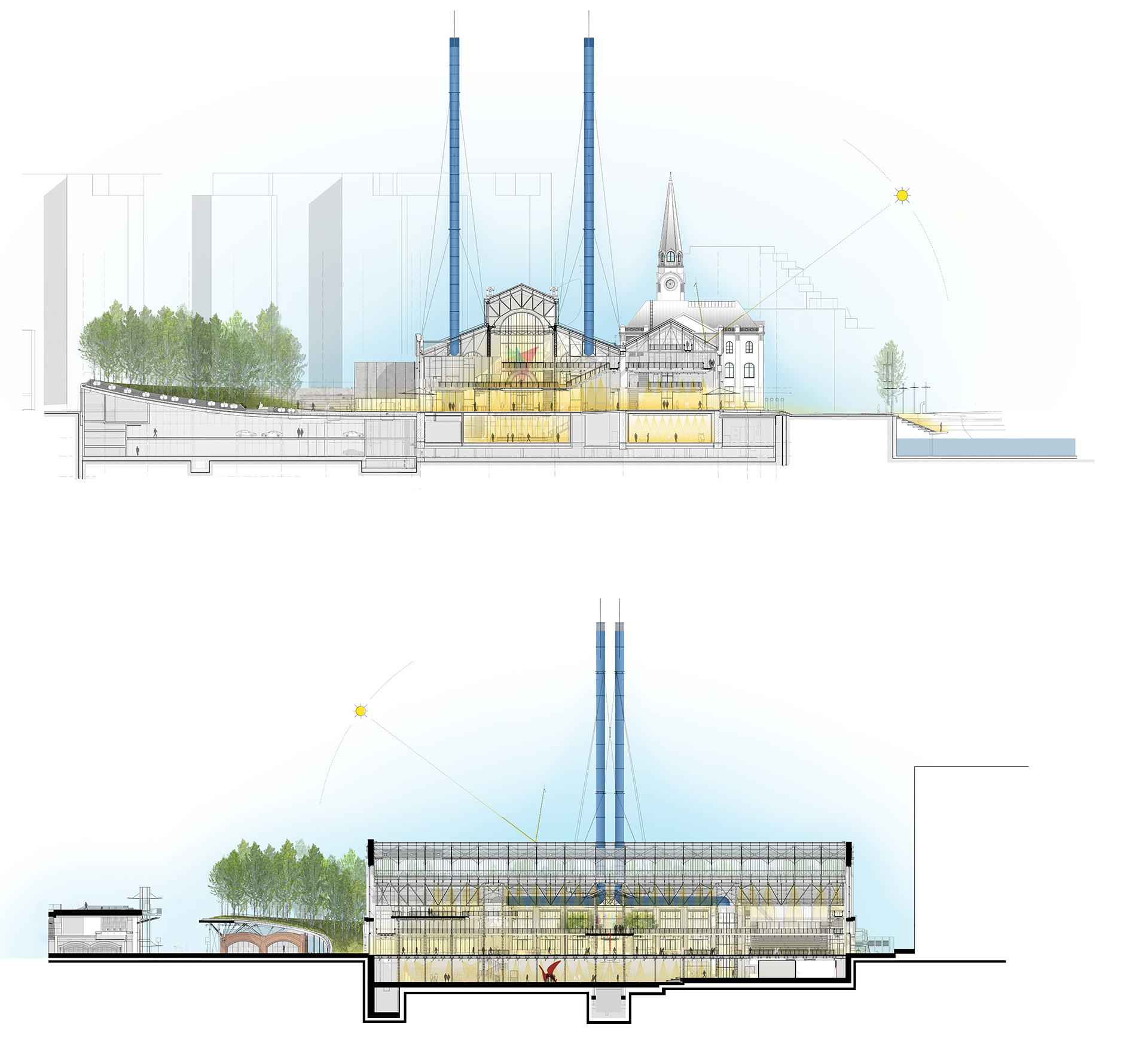 Sectional Views | GES-2 | Renzo Piano Building Workshop | STIRworld