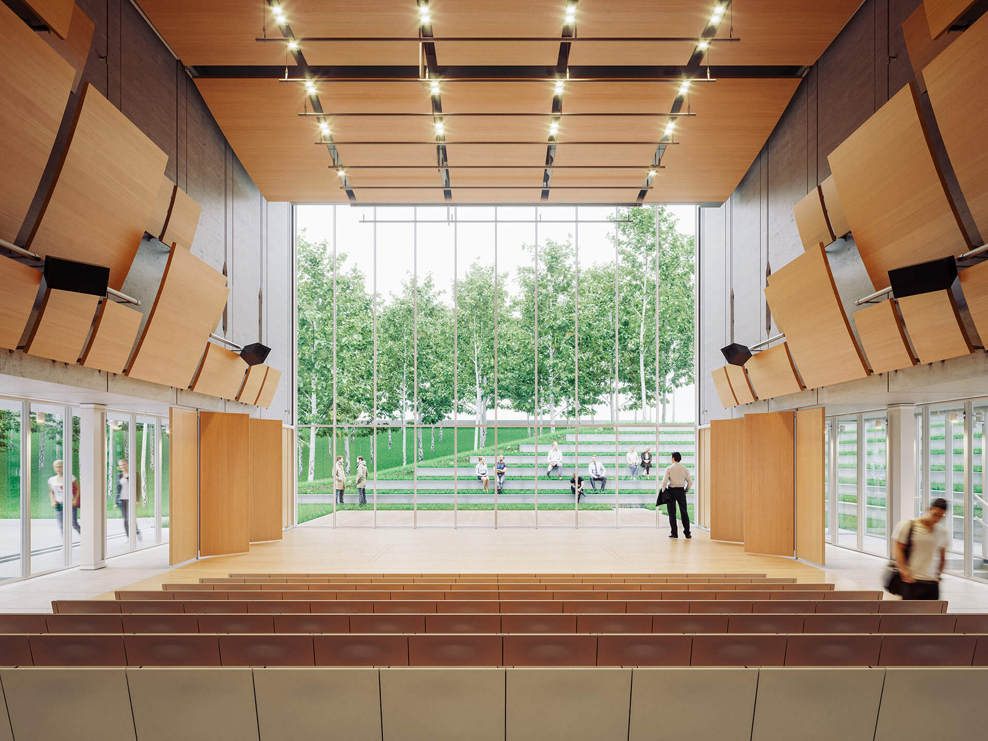 A visual representation of the Playhouse, a transformable performance area| GES-2 | Renzo Piano Building Workshop | STIRworld