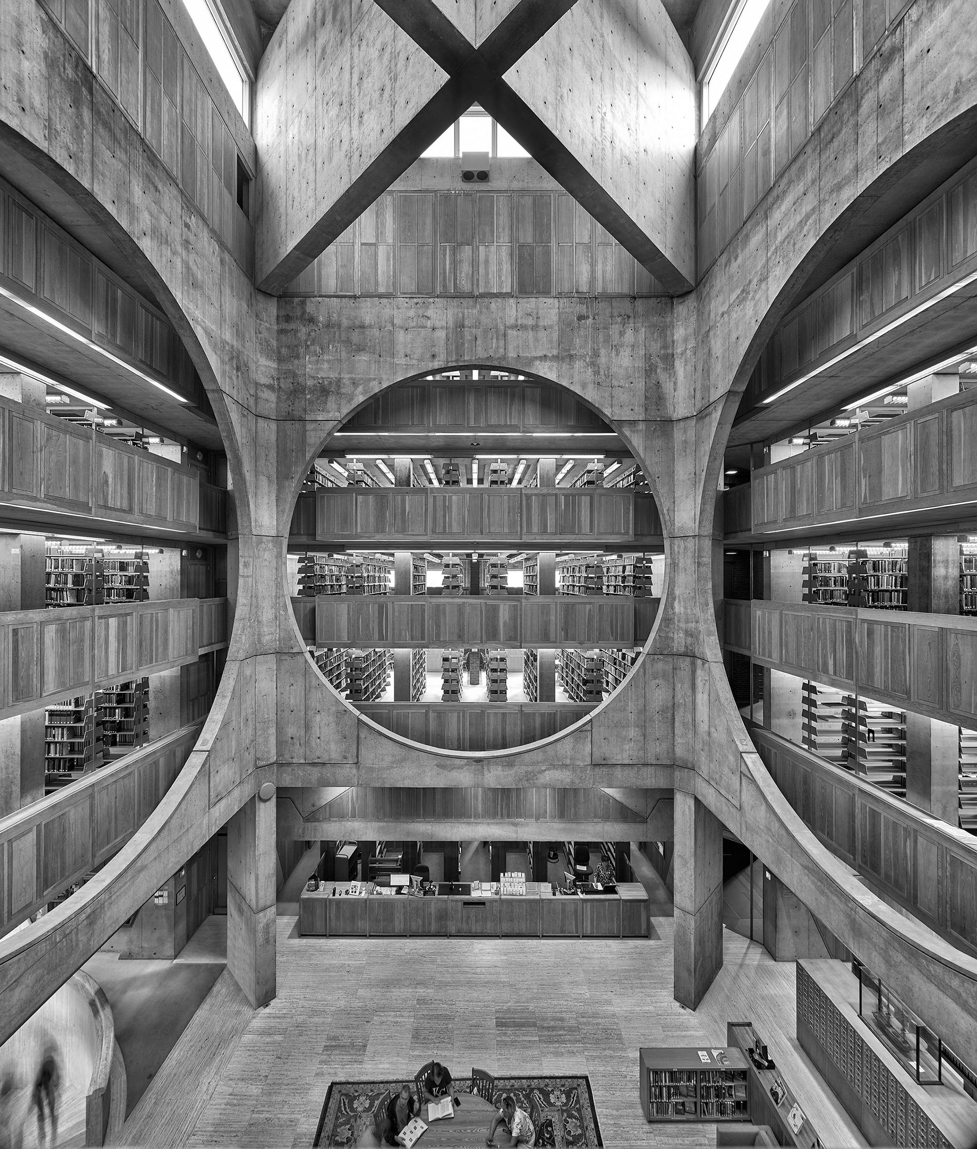 The Phillips Exeter Academy Library in New Hampshire, United States (1965-72) | Miracles in Concrete | Louis I Kahn | STIRworld