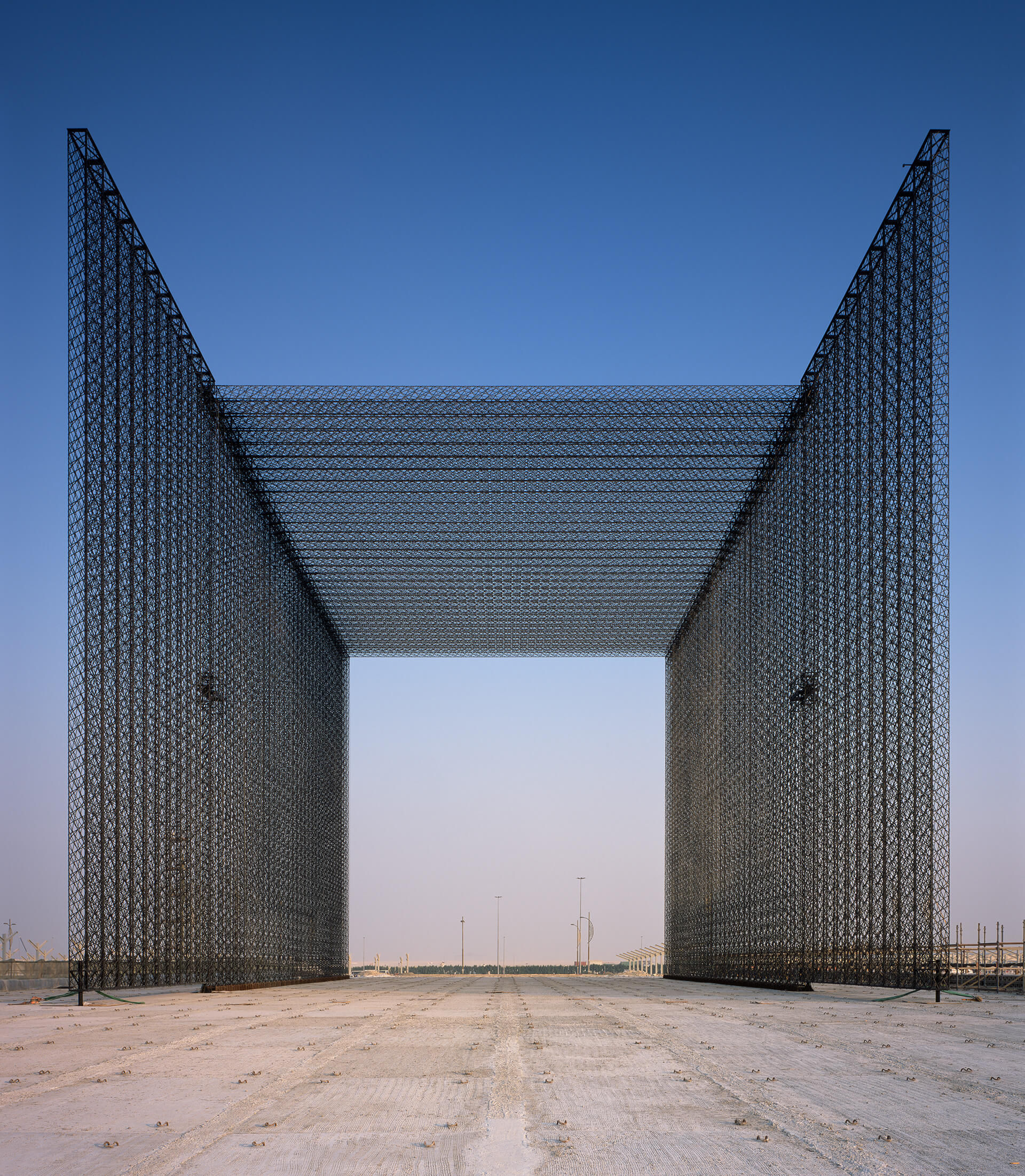 The portals are six-storey tall and 30 meters in length | Entry Portals | Expo 2020 Dubai | Asif Khan | STIRworld