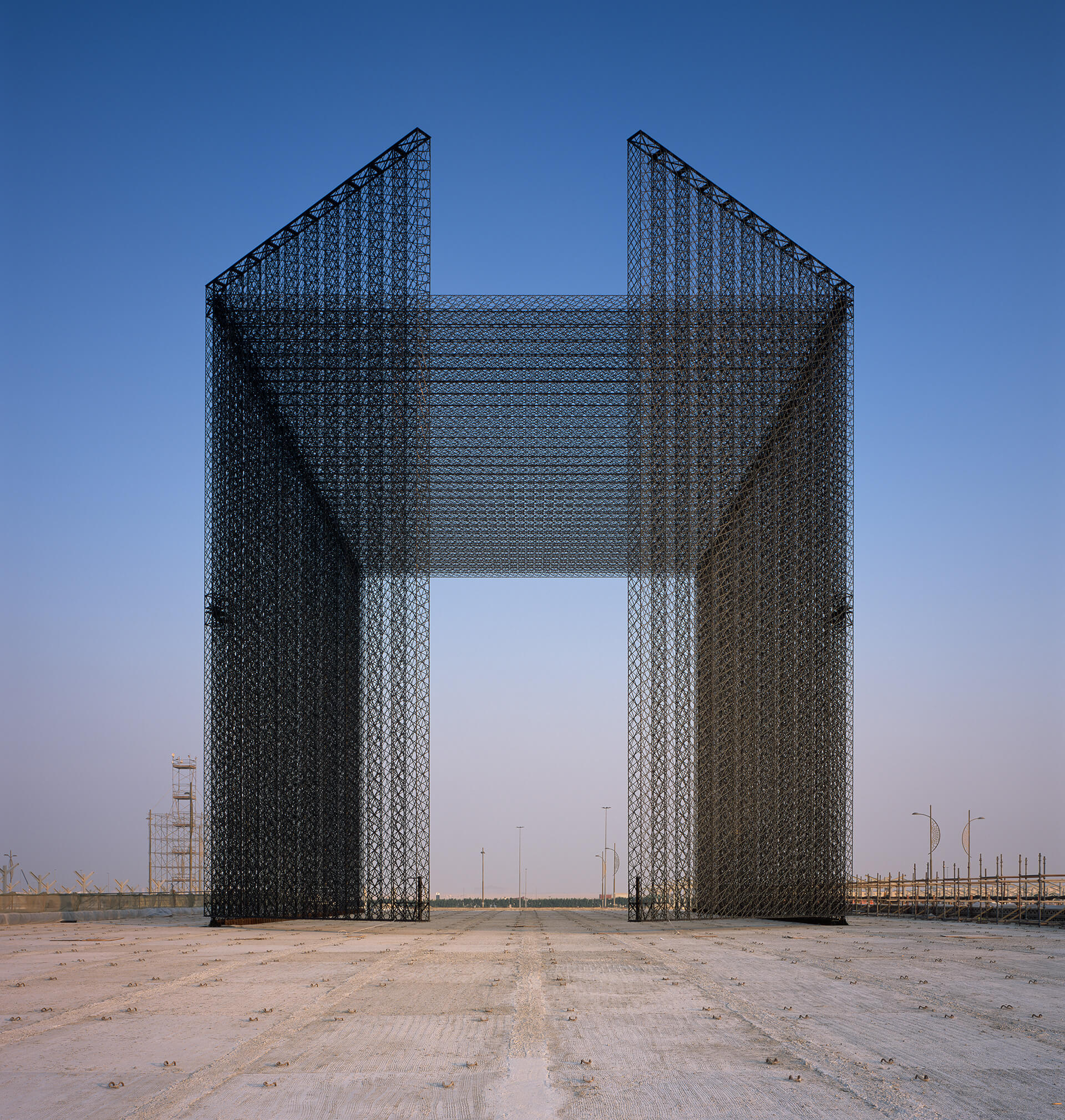 The portal symbolises moving away from the past into the future | Entry Portals | Expo 2020 Dubai| Asif Khan | STIRworld