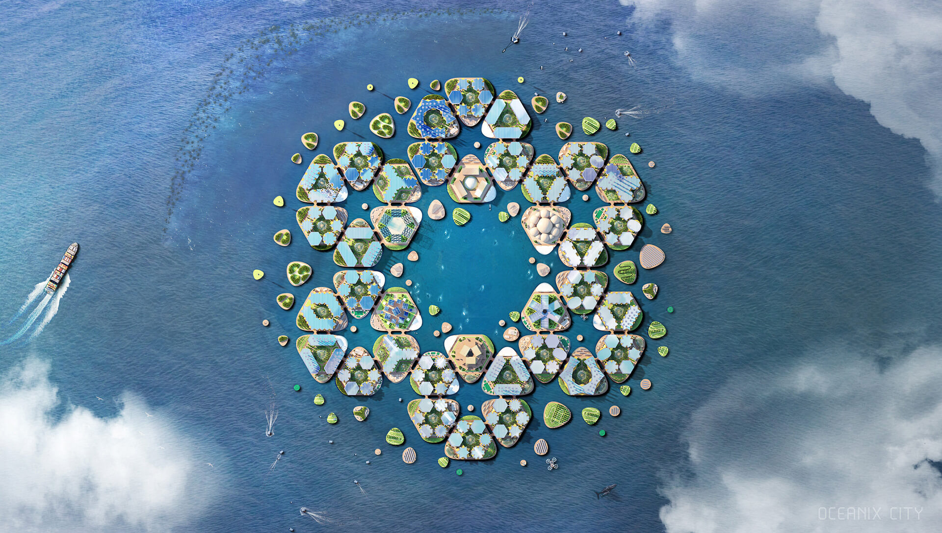 Oceanix City by BIG Architects | Sea of Change | Roca London Gallery | STIRworld