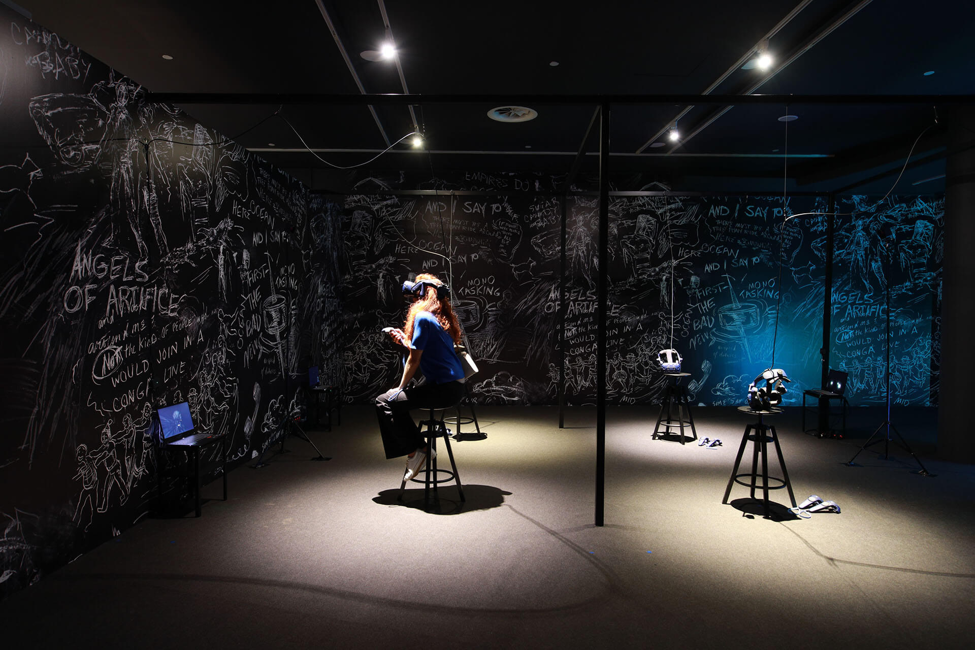La Camera Insabbiata (The Chalkroom), 2017, by Laurie Anderson and Hsin-Chien Huang | Singapore Biennale | Laurie Anderson, Hsin-Chien Huang | STIRworld