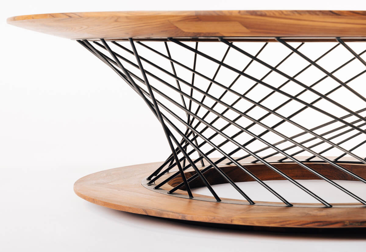 The Mesh center Table - detail | Tectona Grandis Furniture | India | Dhruvkant Amin | STIRworld