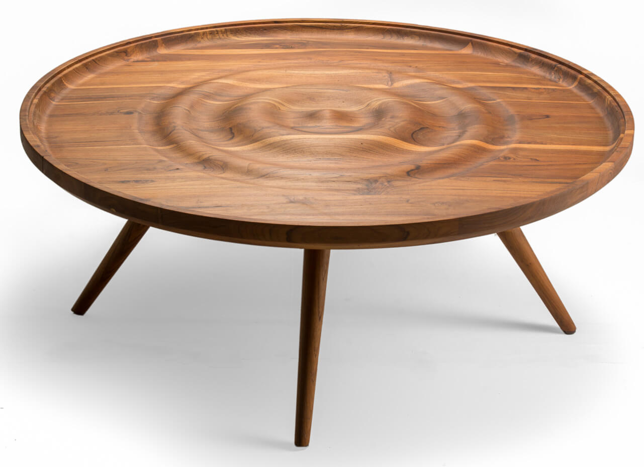 The Ripple Center Table | Tectona Grandis Furniture | India | Dhruvkant Amin | STIRworld