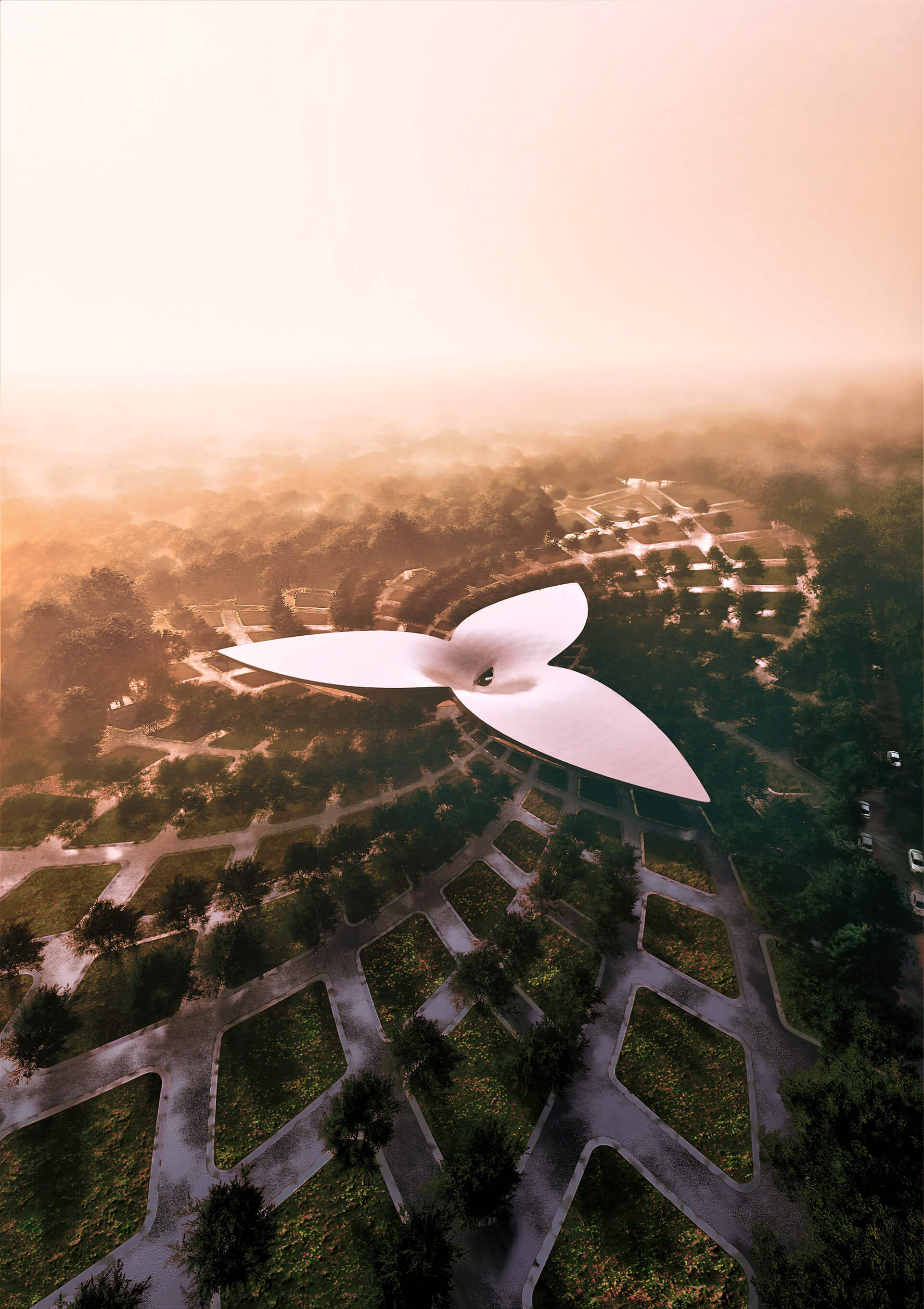 Visualised aerial view of the perfume park and museum| Perfume Park and Museum | Studio Symbiosis | STIRworld
