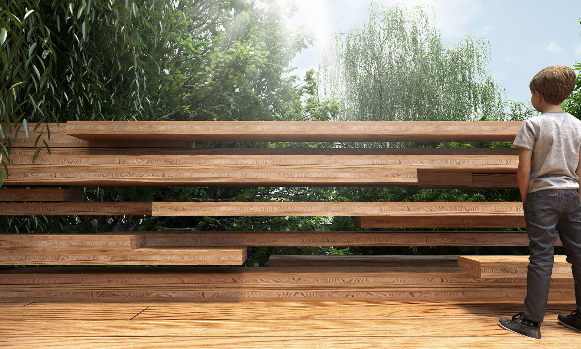 Employing treated Eucalyptus wood for the bridge suggests usage of greener building materials | Paul Cocksedge | Design Indaba 2020 | STIRworld