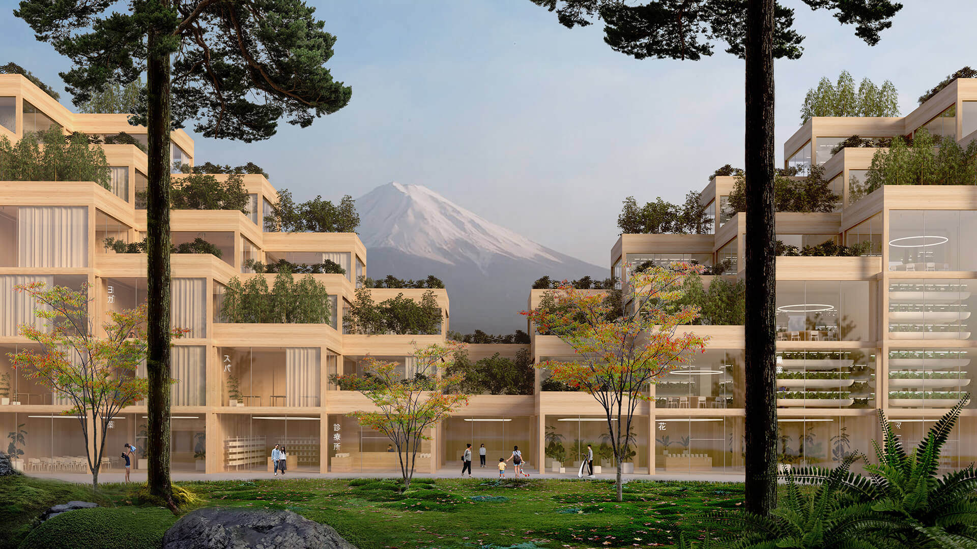 The concept design incorporates low cost materials and traditional Japanese wood techniques at the foothills of Mount Fuji in Japan | Woven City | Bjarke Ingels Group | STIRworld
