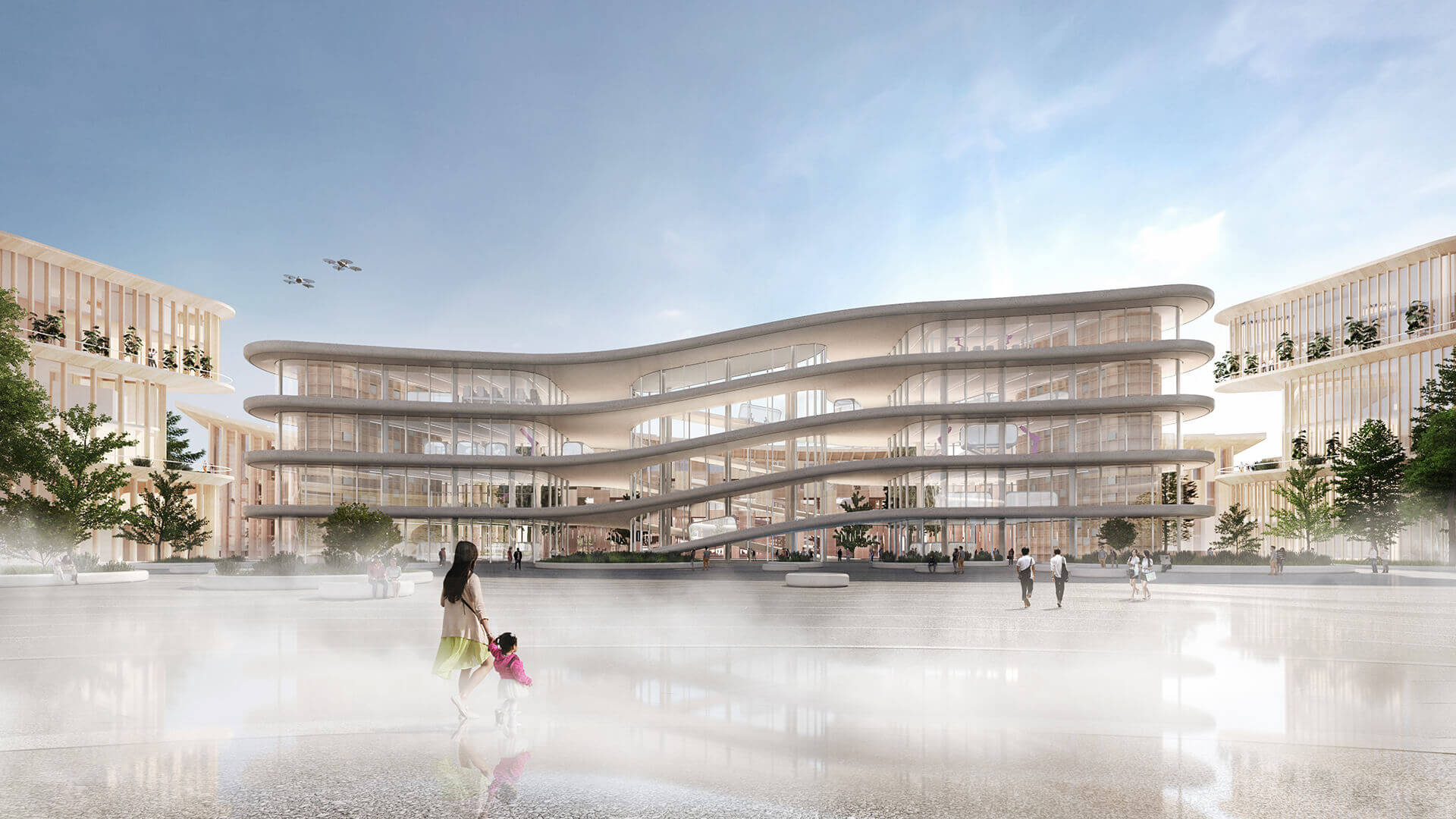 The central city plaza that encourages interaction and innovation | Woven City | Bjarke Ingels Group | STIRworld