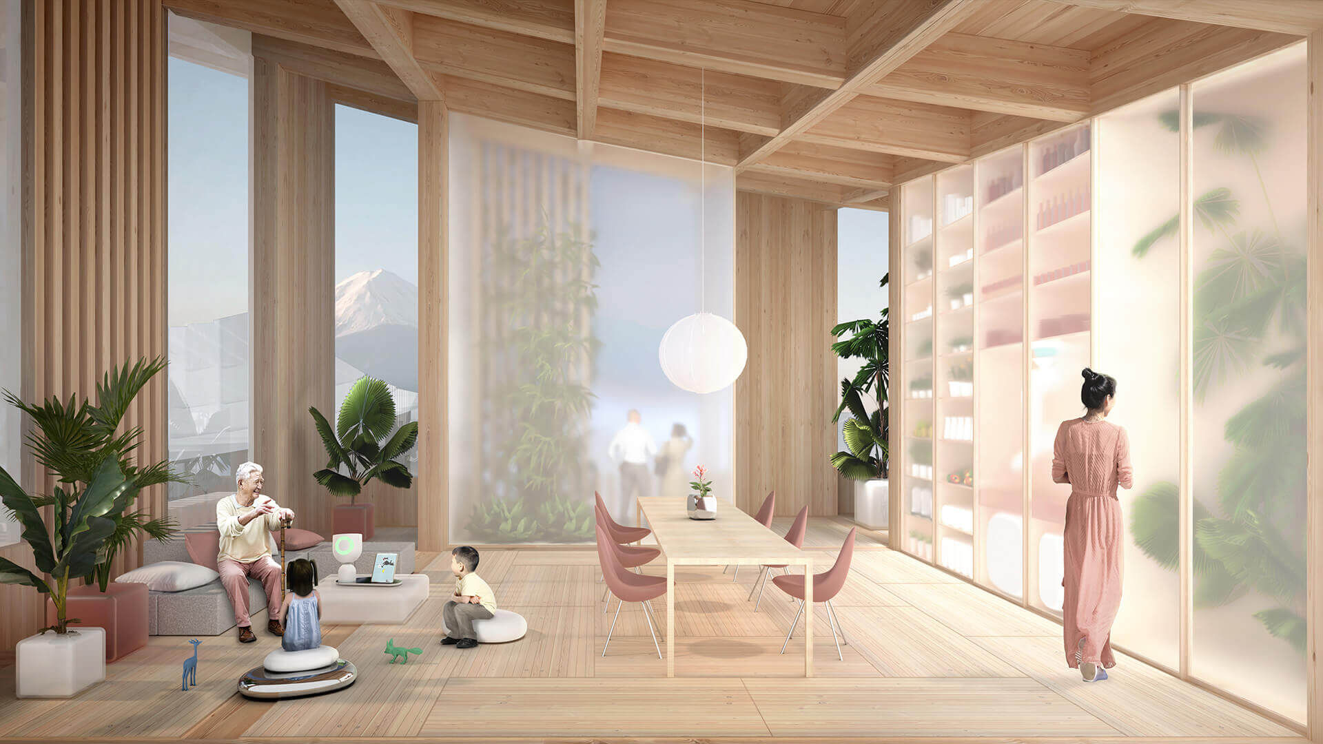 Homes have been designed with old traditions but new robotic production methods| Woven City | Bjarke Ingels Group | STIRworld