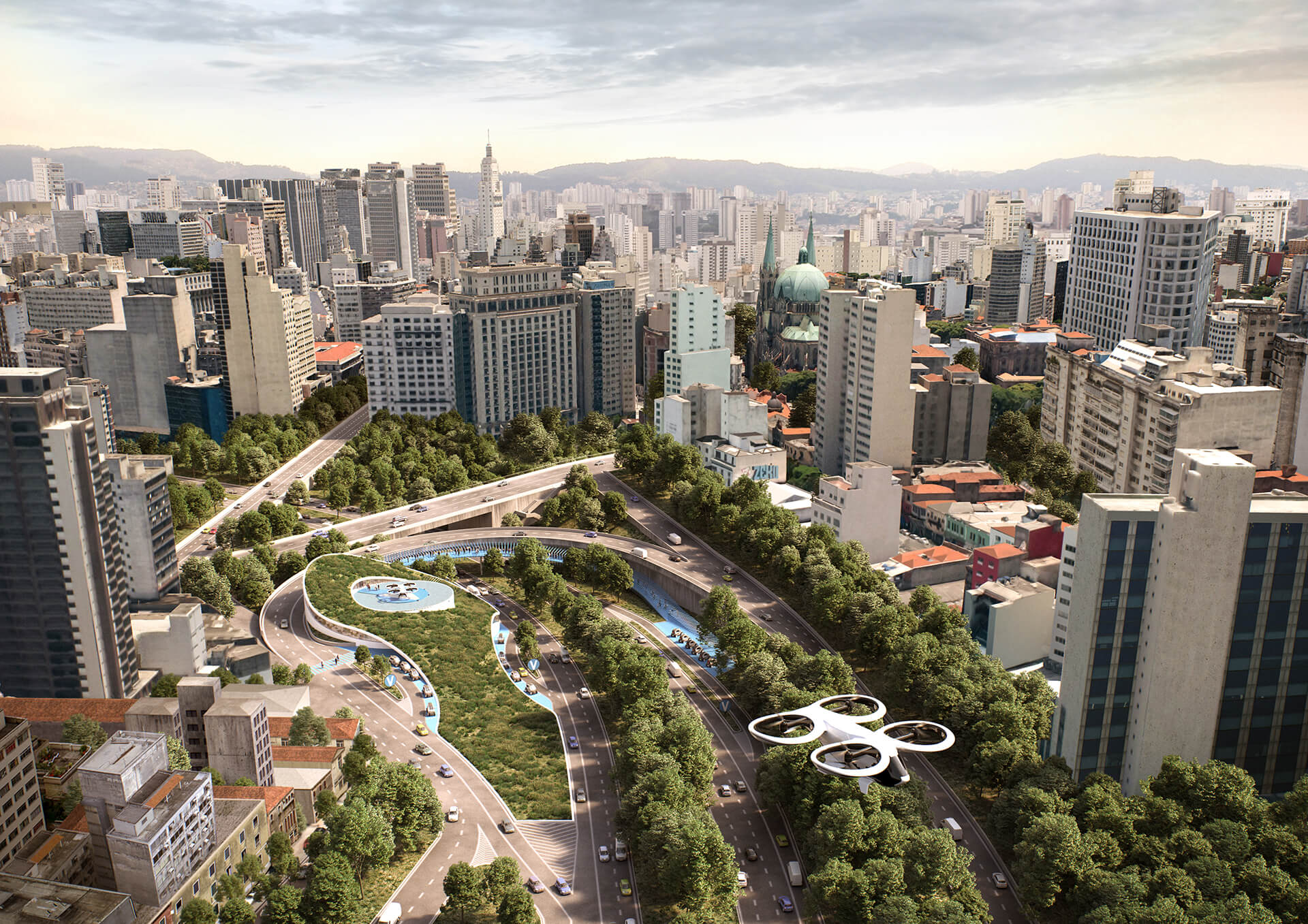 Adding value to residual spaces, Sao Paolo | Airbus | MVRDV | STIRworld