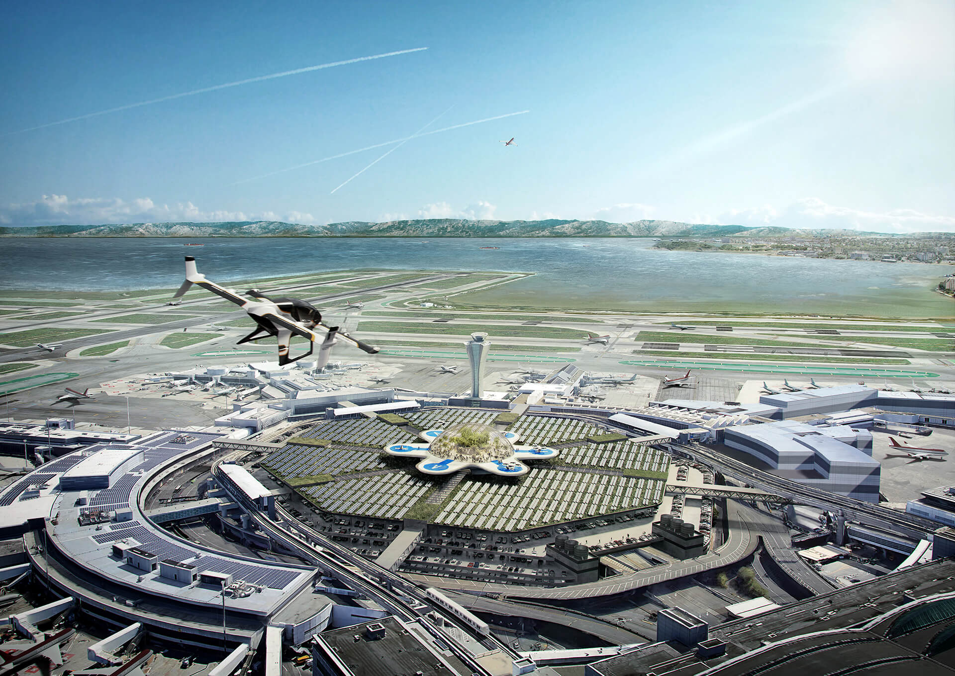 Optimising intermodality, San Francisco Airport | Airbus | MVRDV | STIRworld