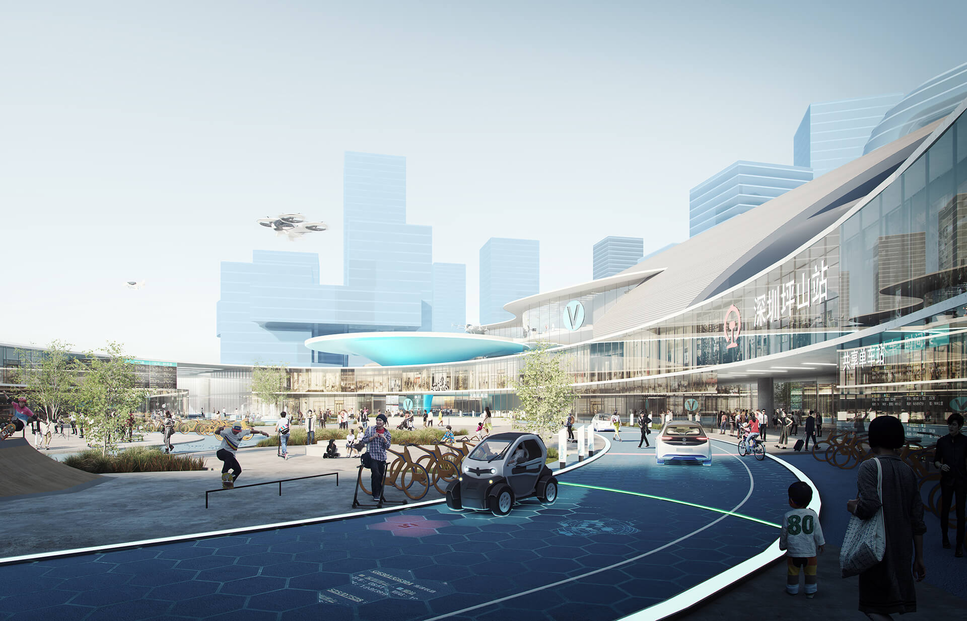 Integrating into Transit-Oriented Developments, Shenzhen | Airbus | MVRDV | STIRworld