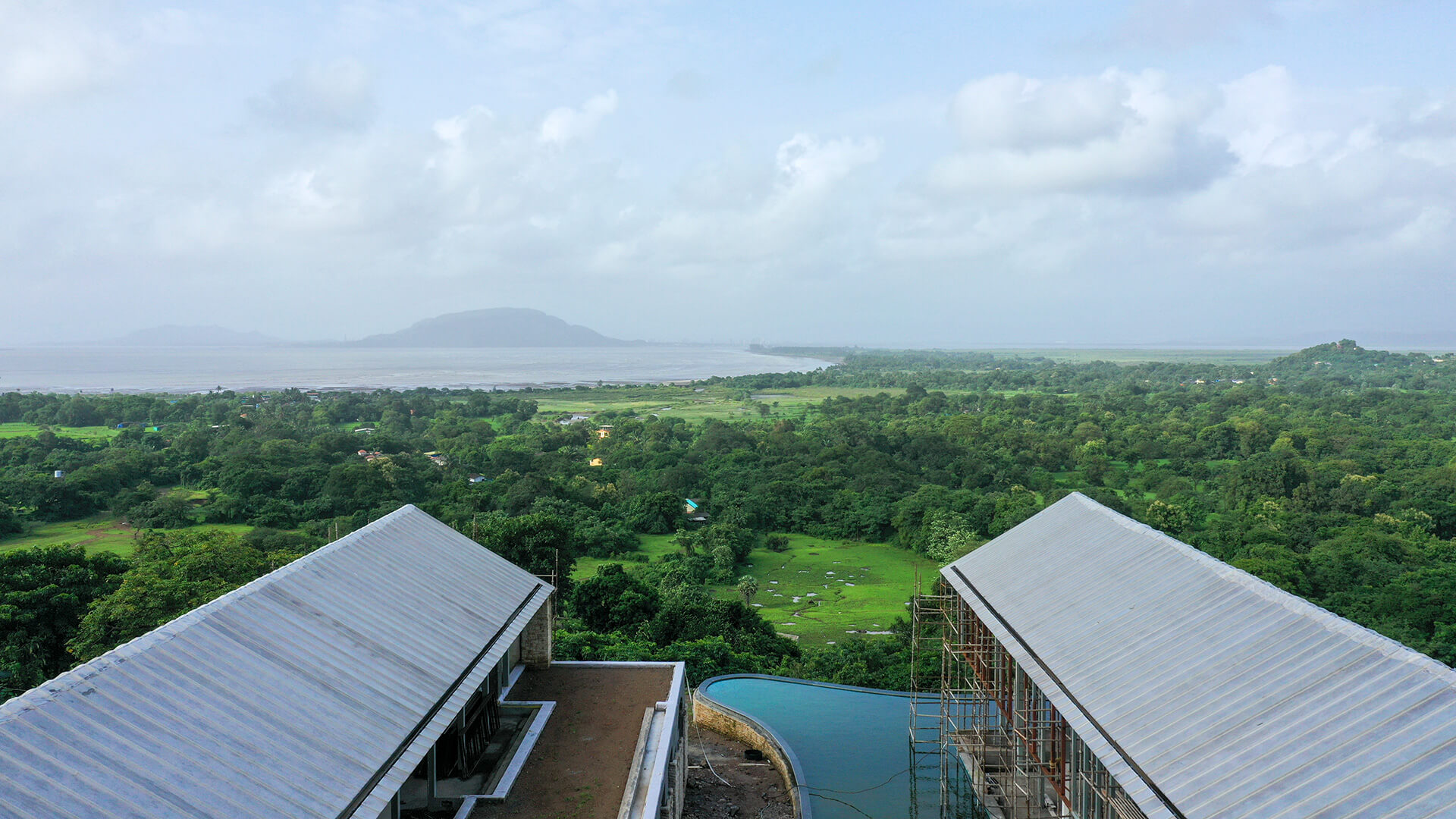 Site photograph of the Plantation Retreat, Alibag, currently under construction | Plantation Retreat | Architecture BRIO | STIRworld