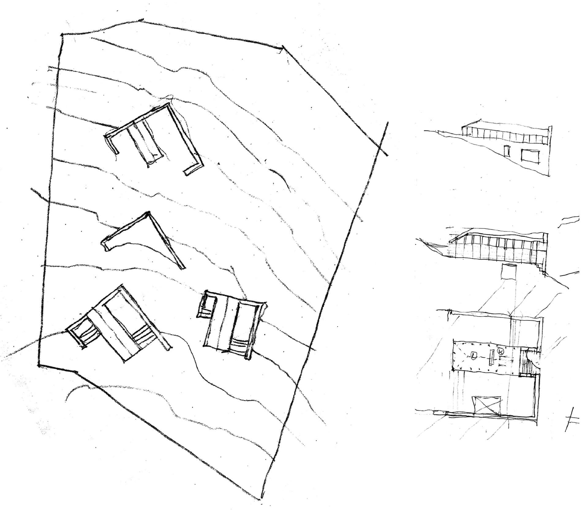 Step 5: The plinth of the barn gets deformed into a 'hook-shape' | Plantation Retreat | Architecture BRIO | STIRworld