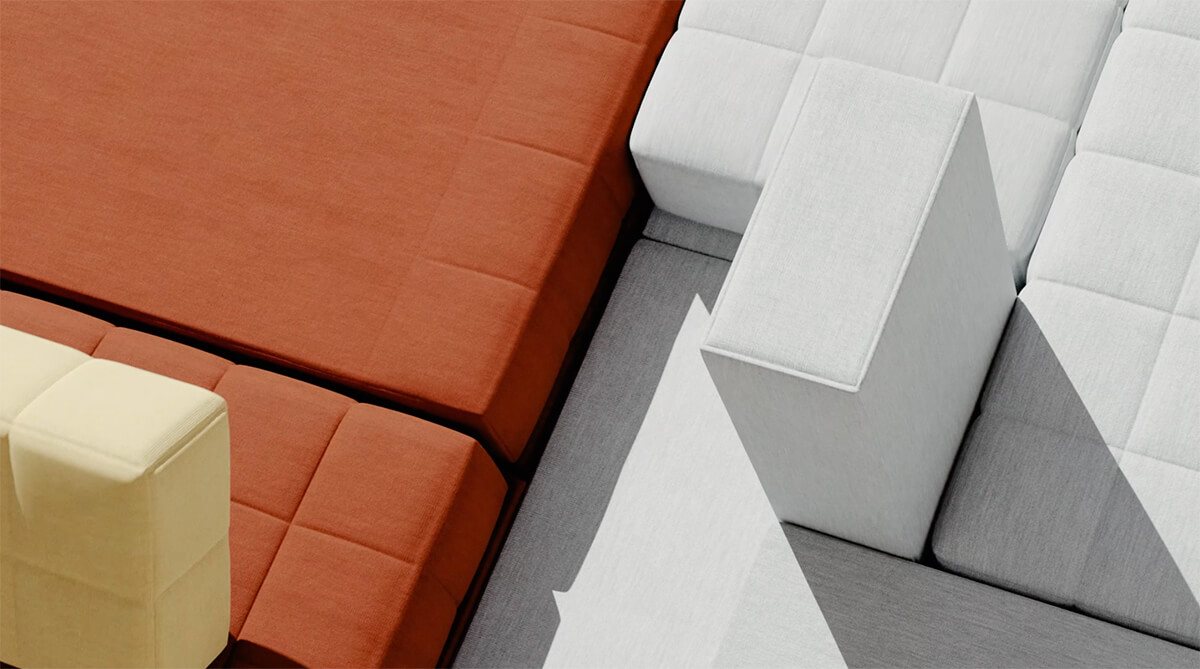 Voxel Sofa - a modular seating system by Bjarke Ingels Group | Voxel Sofa by BIG for Common Seating | STIRworld