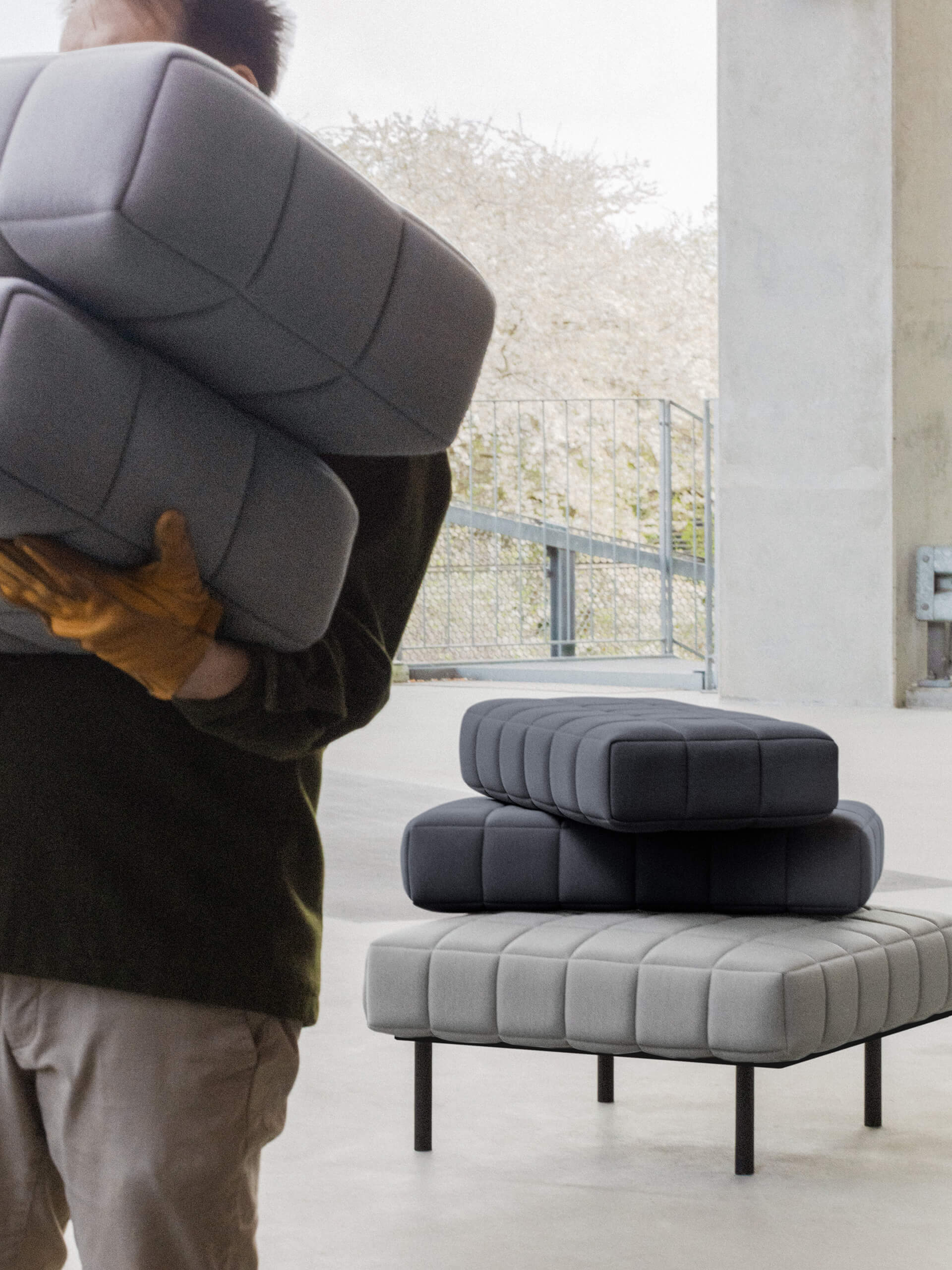 Voxel users can minimise their impact on the environment by exchanging the furniture's components, instead of chucking it out entirely | Voxel Sofa by BIG for Common Seating | STIRworld