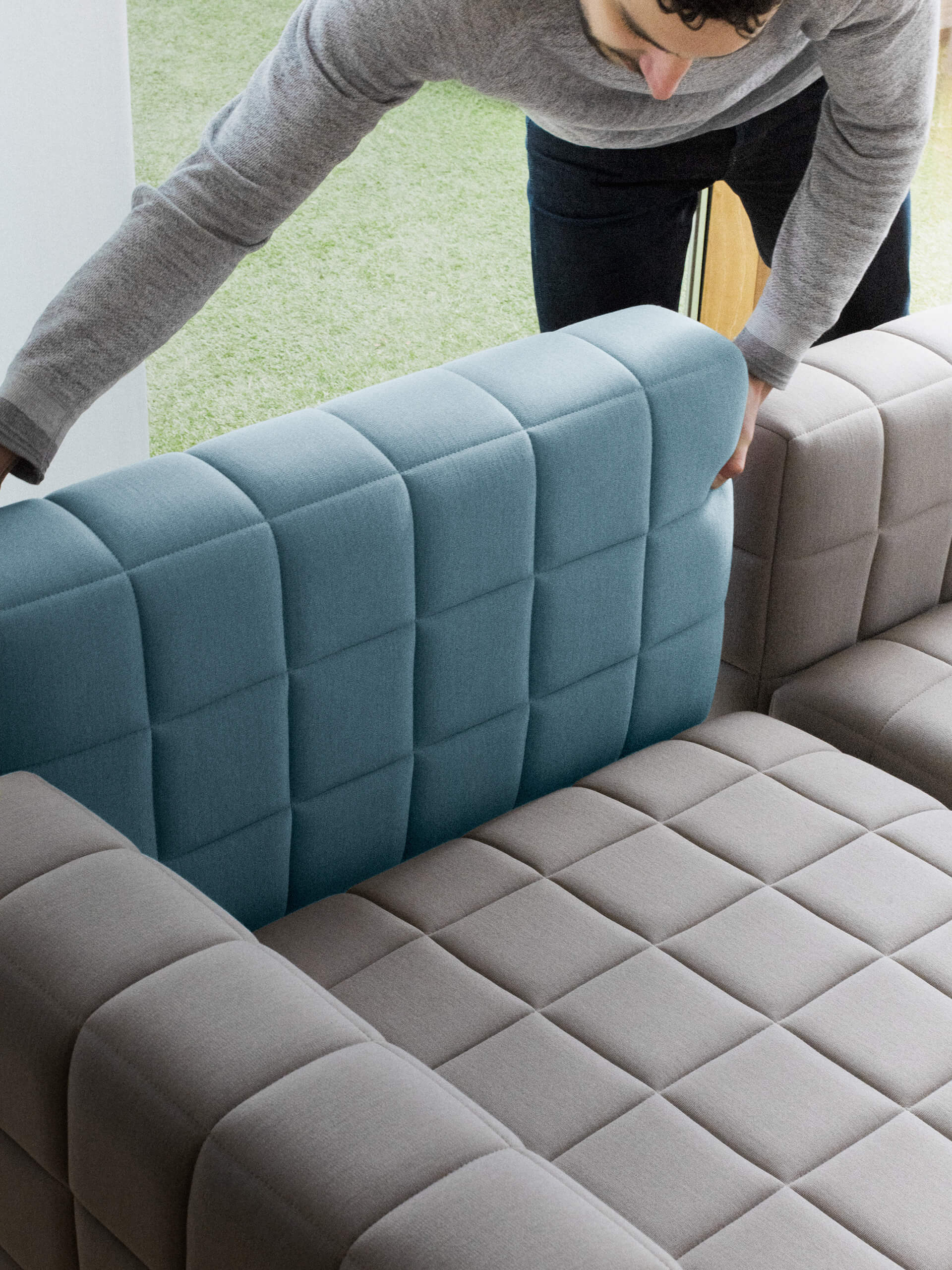 The Voxel Sofa's damaged pieces can be easily and sustainably repaired or swapped | Voxel Sofa by BIG for Common Seating | STIRworld