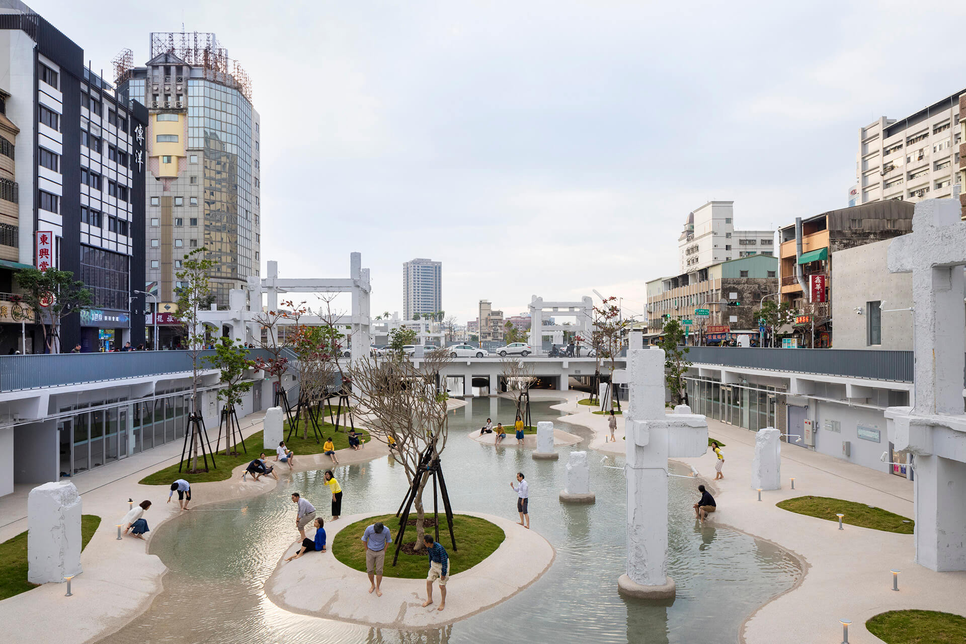 Tainan Spring sees the transformation of the abandoned China Town Mall into an urban lagoon | MVRDV's Tainan Spring is an urban lagoon in Tainan, Taiwan | STIRworld