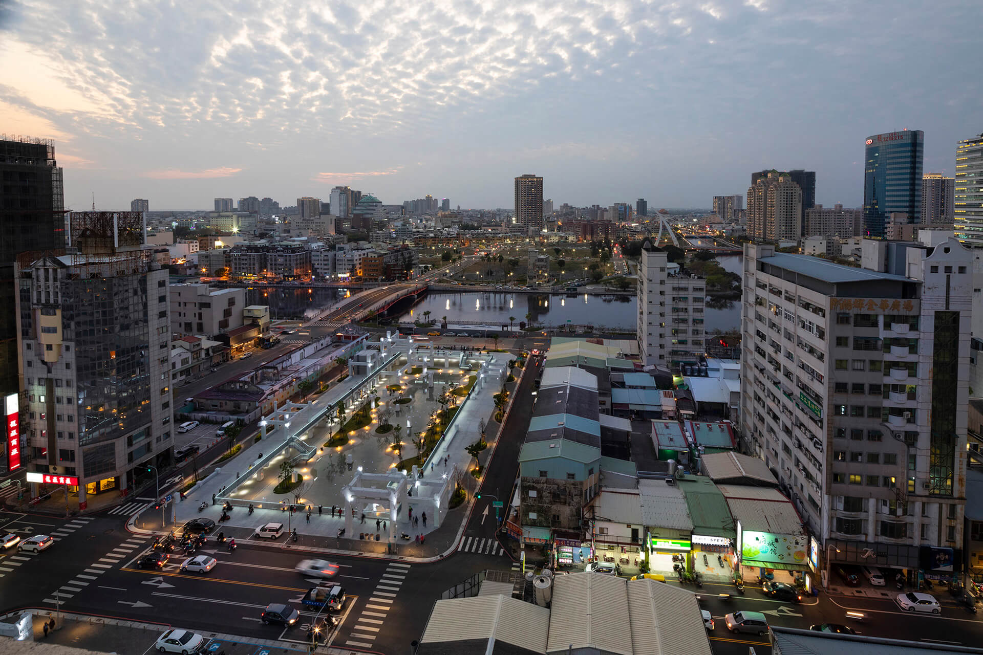 The new public square forms a fresh landscape strategy, unifying the former China Town mall's site and a kilometre-long stretch of the city's Haian Road | MVRDV's Tainan Spring is an urban lagoon in Tainan, Taiwan | STIRworld